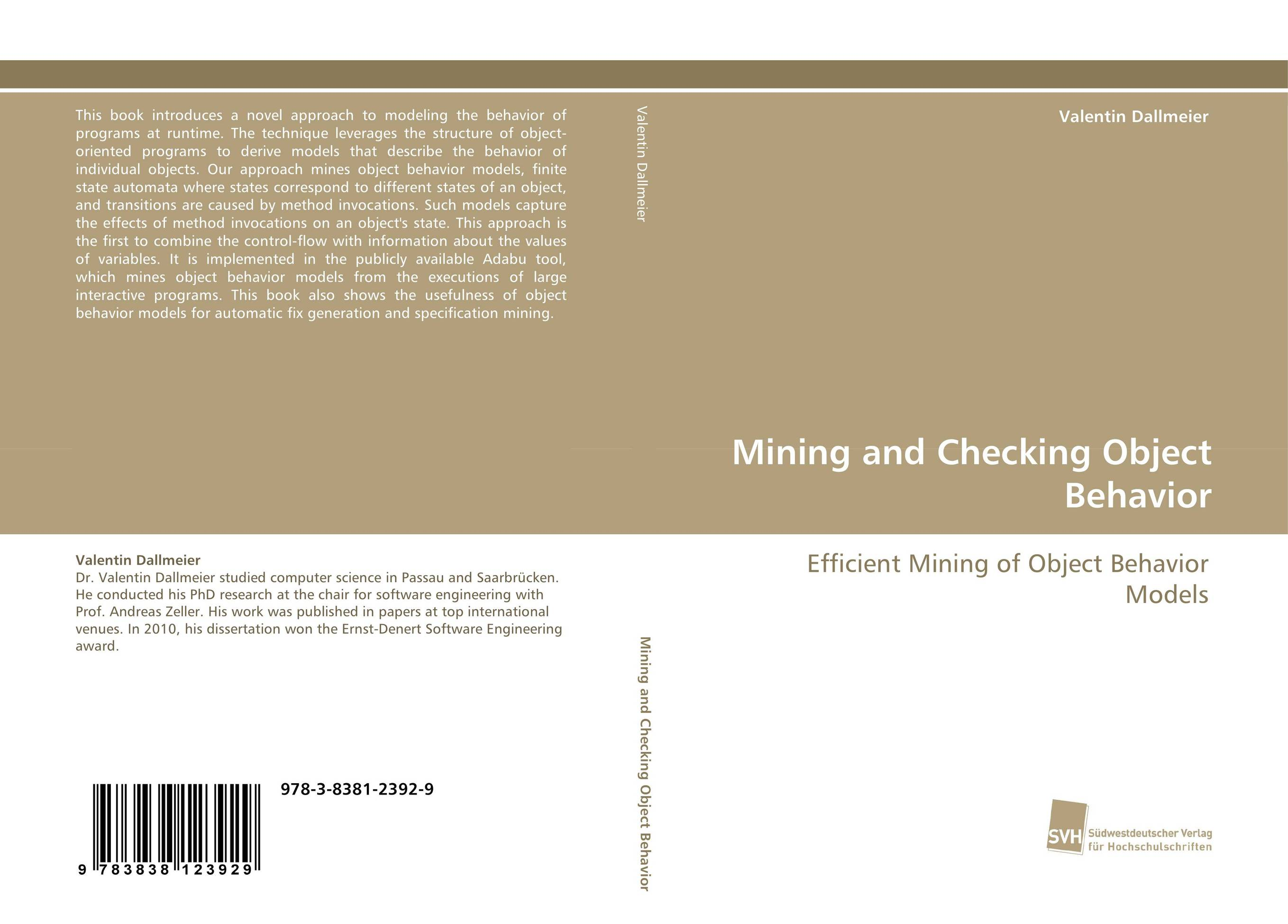 Mining and Checking Object Behavior affair of state an
