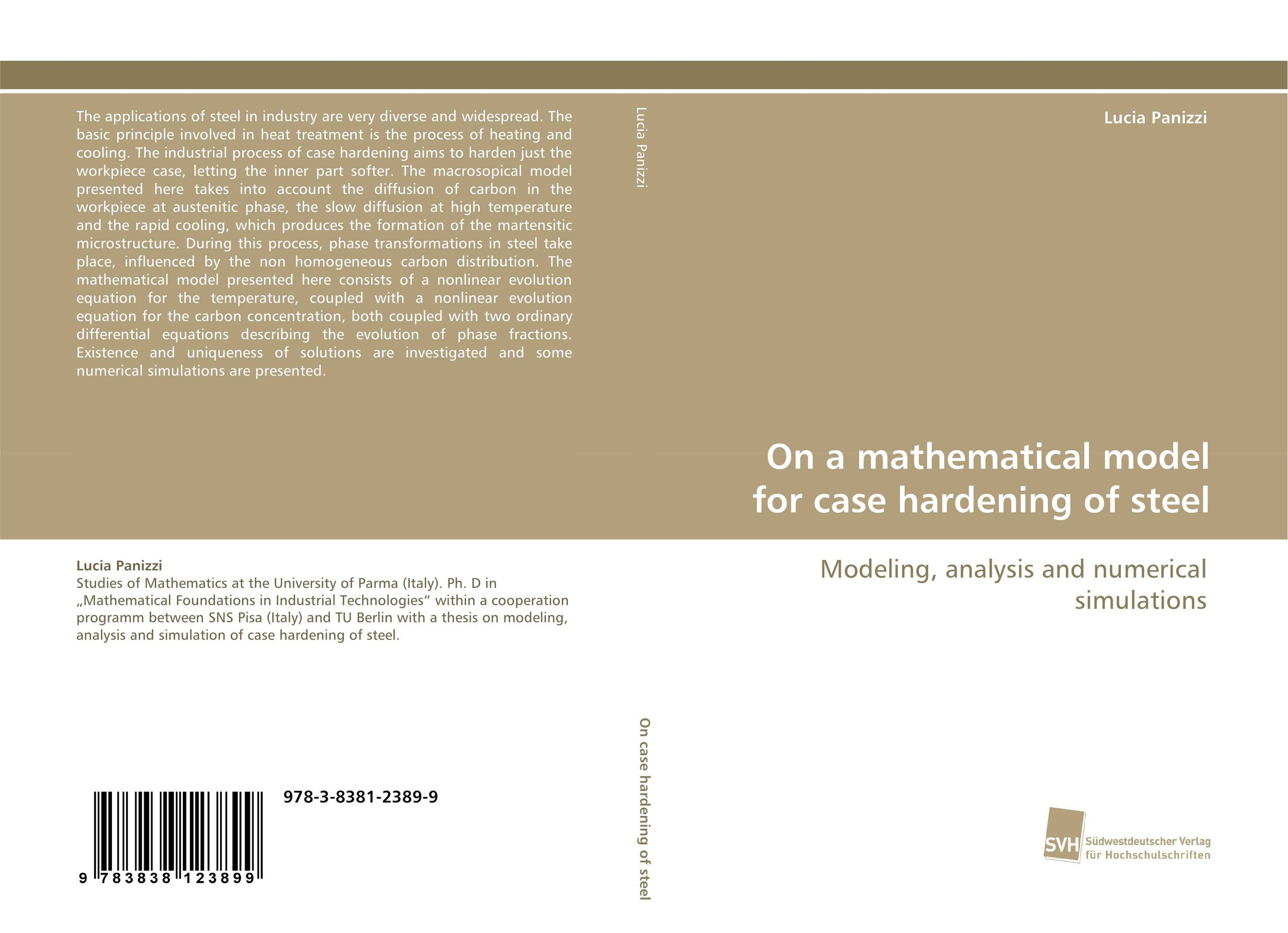 On a mathematical model for case hardening of steel