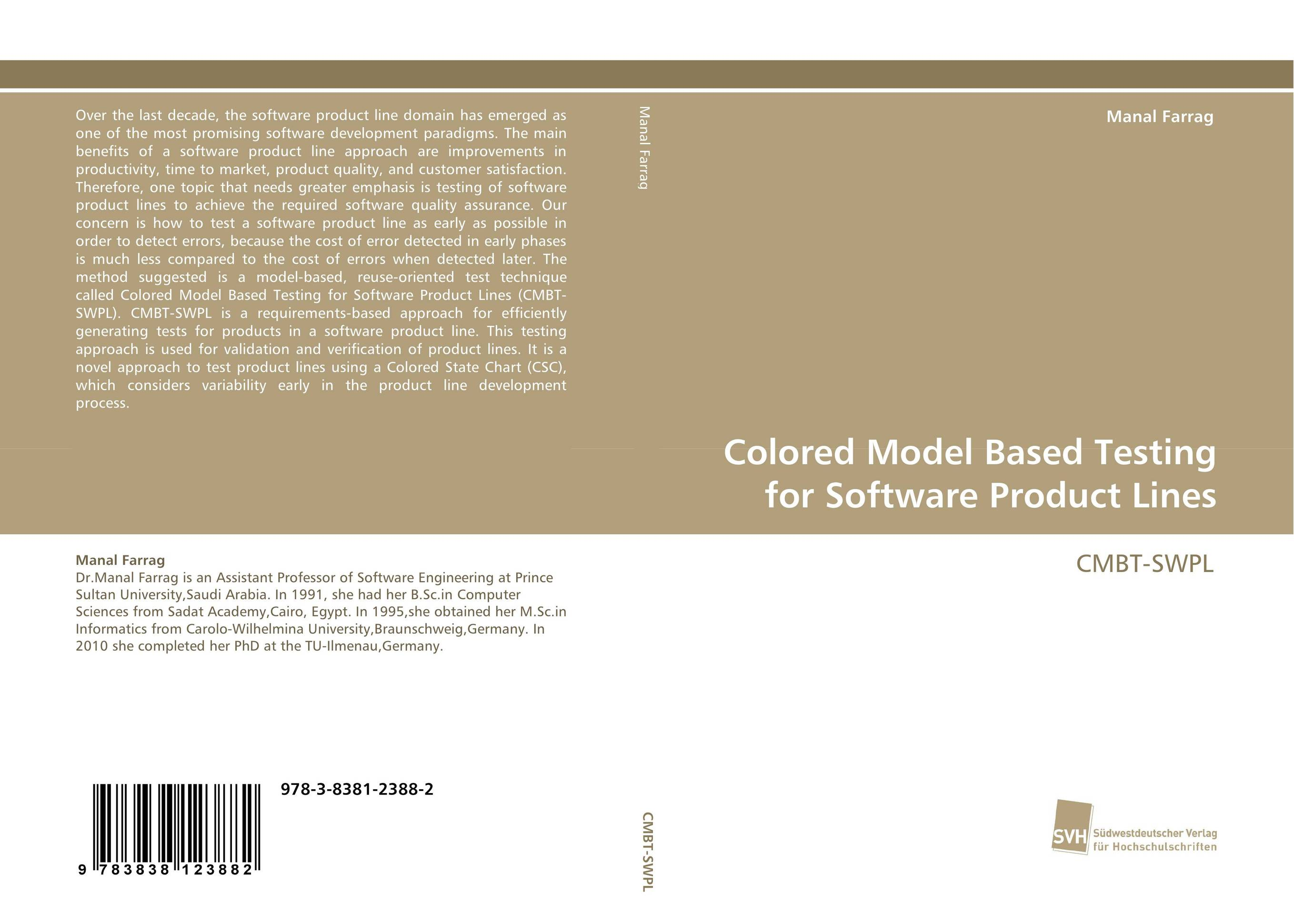 Colored Model Based Testing for Software Product Lines front