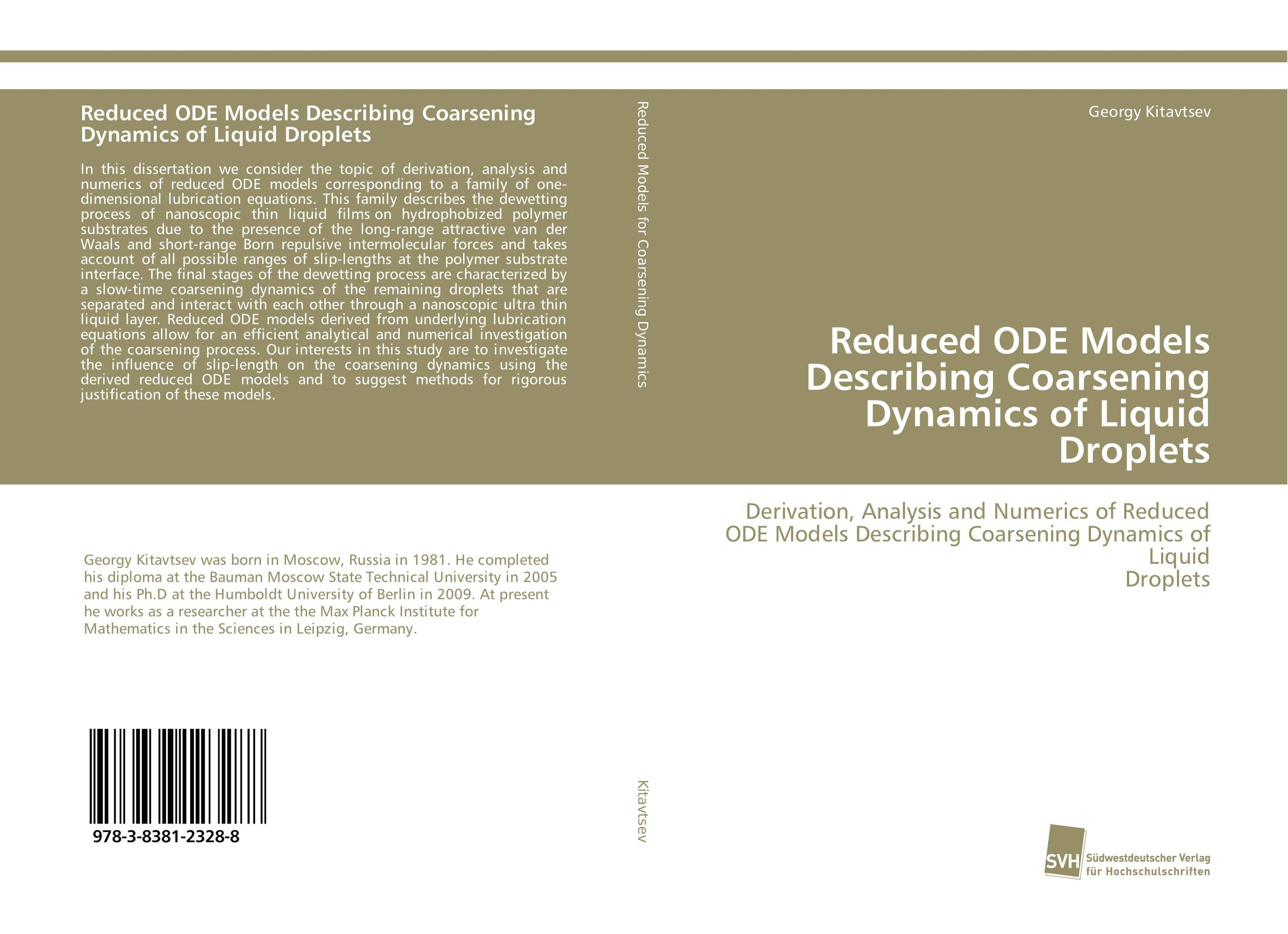Reduced ODE Models Describing Coarsening Dynamics of Liquid Droplets постер ode to the summer lilac