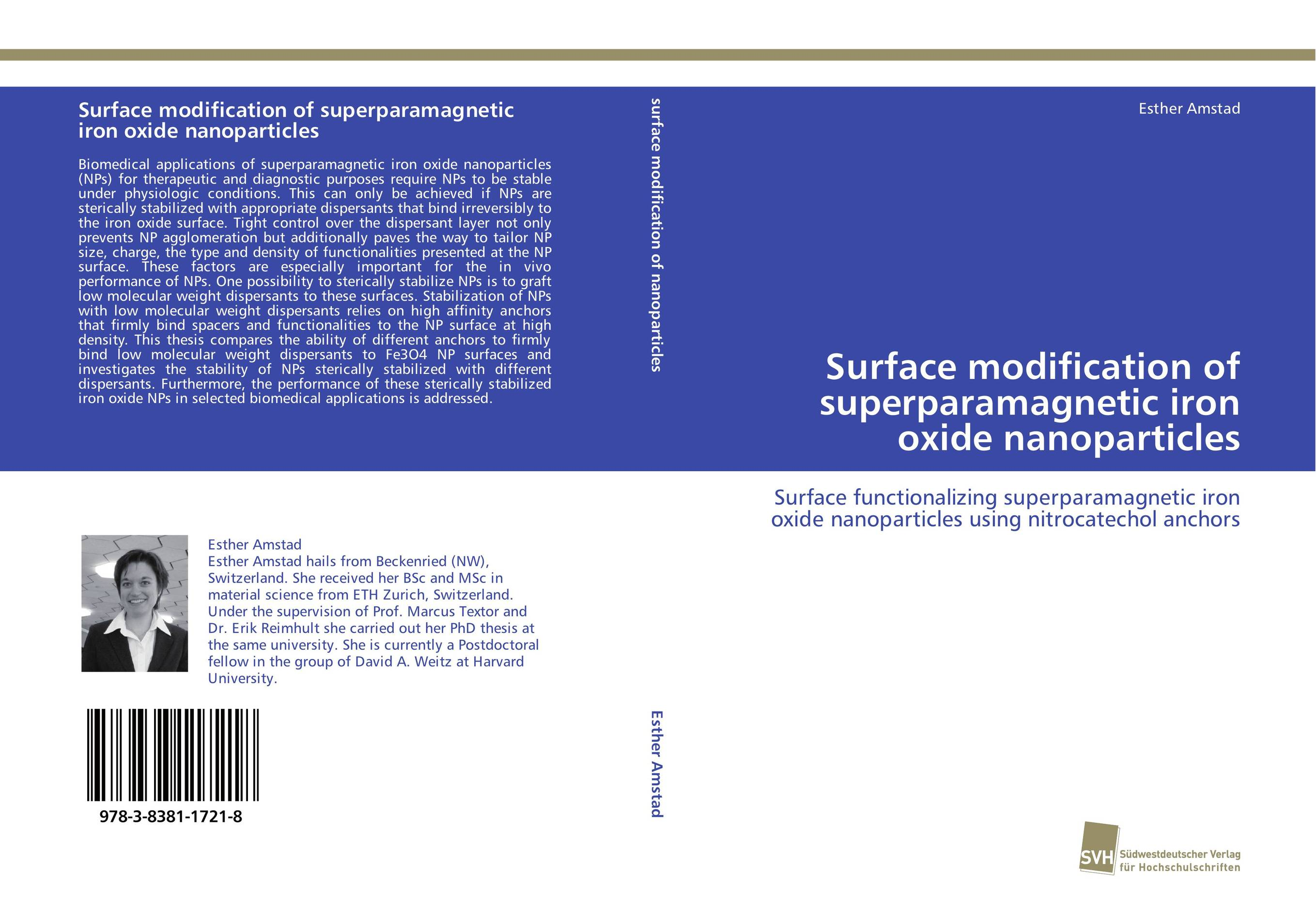 Surface modification of superparamagnetic iron oxide nanoparticles