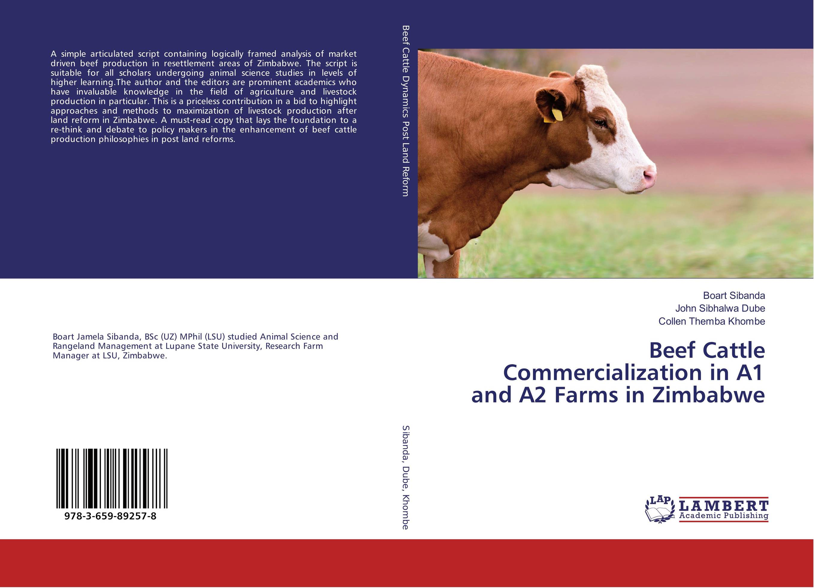 Beef Cattle Commercialization in A1 and A2 Farms in Zimbabwe аксессуары для скрипок other 2015 1 8 1 4 1 2 3 4 4 4 445