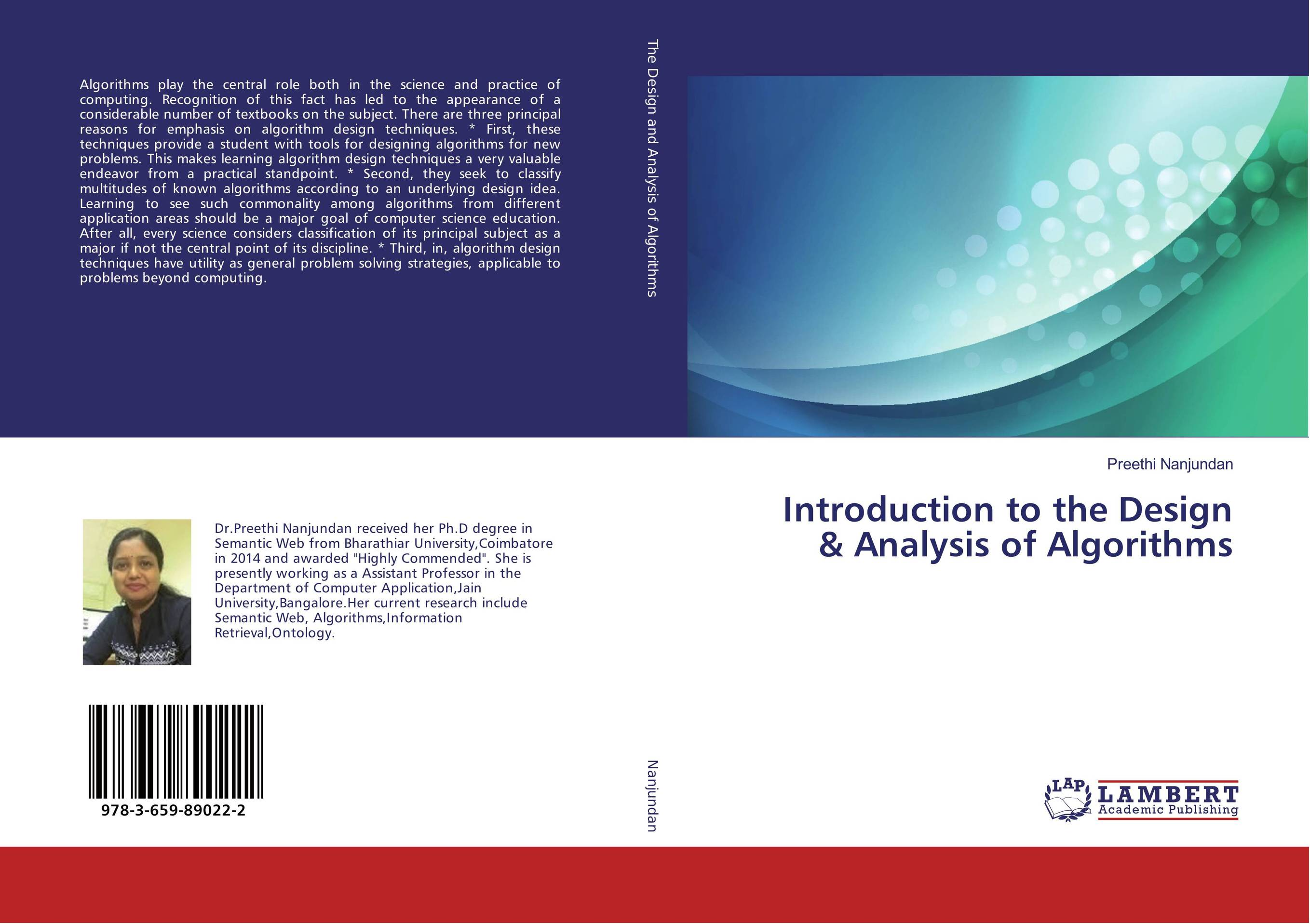 Introduction to the Design & Analysis of Algorithms the role of evaluation as a mechanism for advancing principal practice