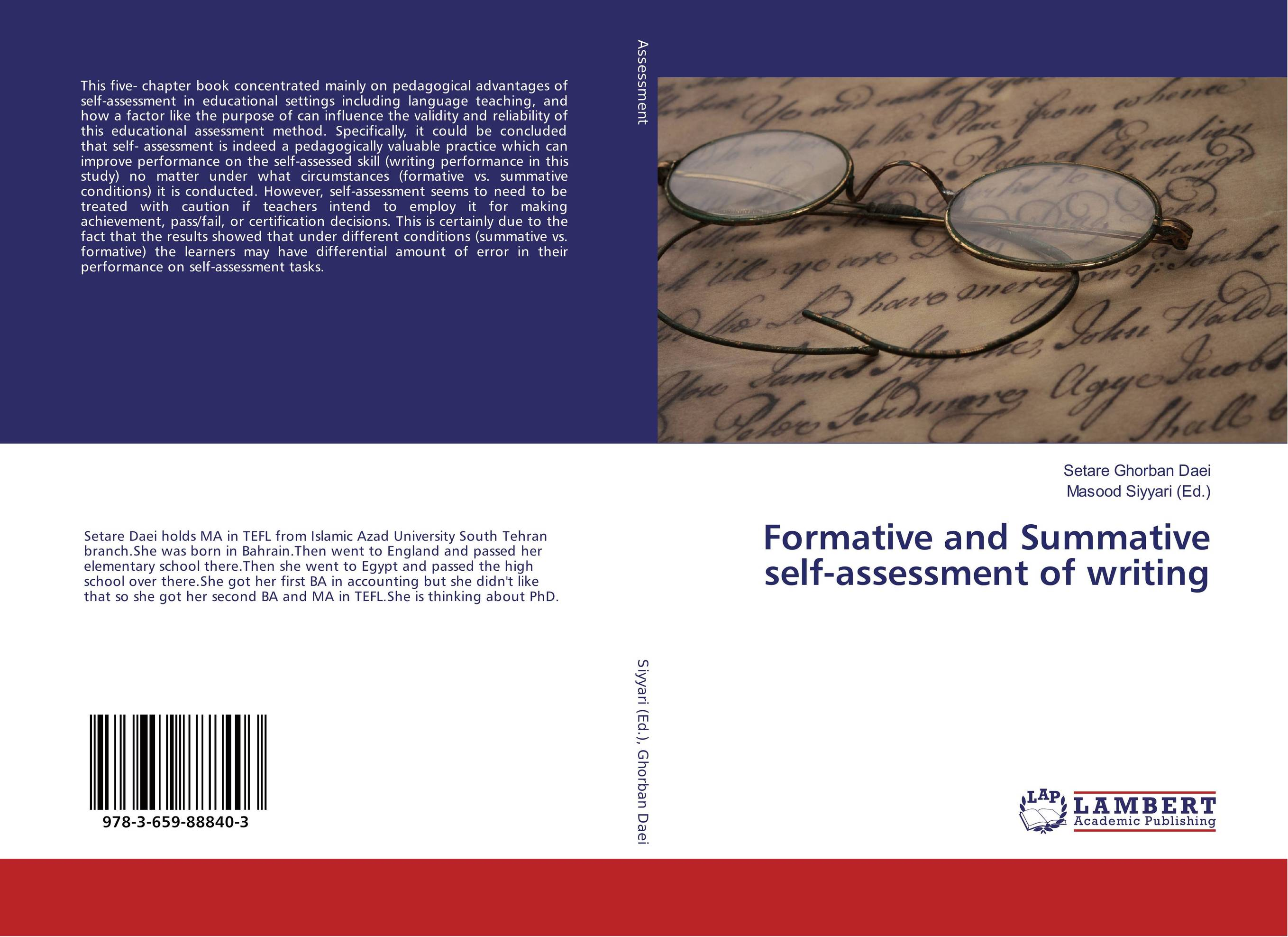 Formative and Summative self-assessment of writing performance and durability assessment