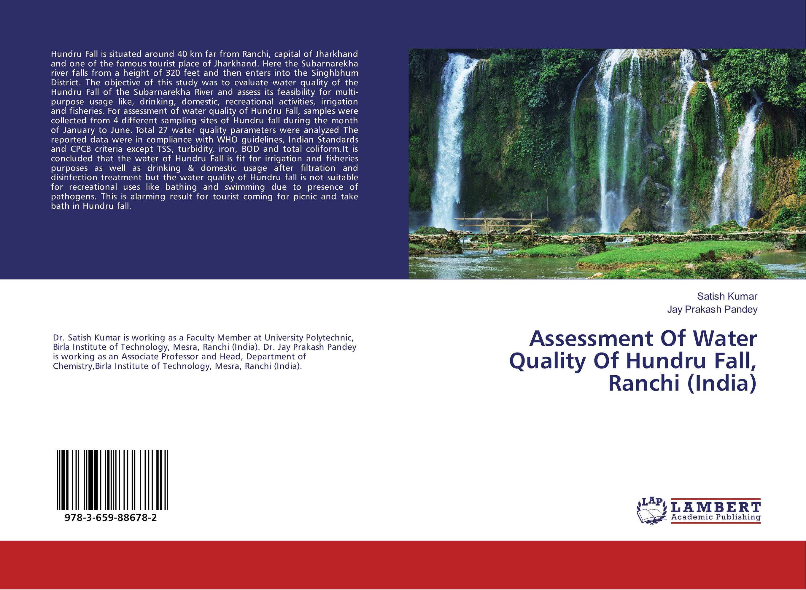 Assessment Of Water Quality Of Hundru Fall, Ranchi (India) physicochemical and bacteriological water quality assessment