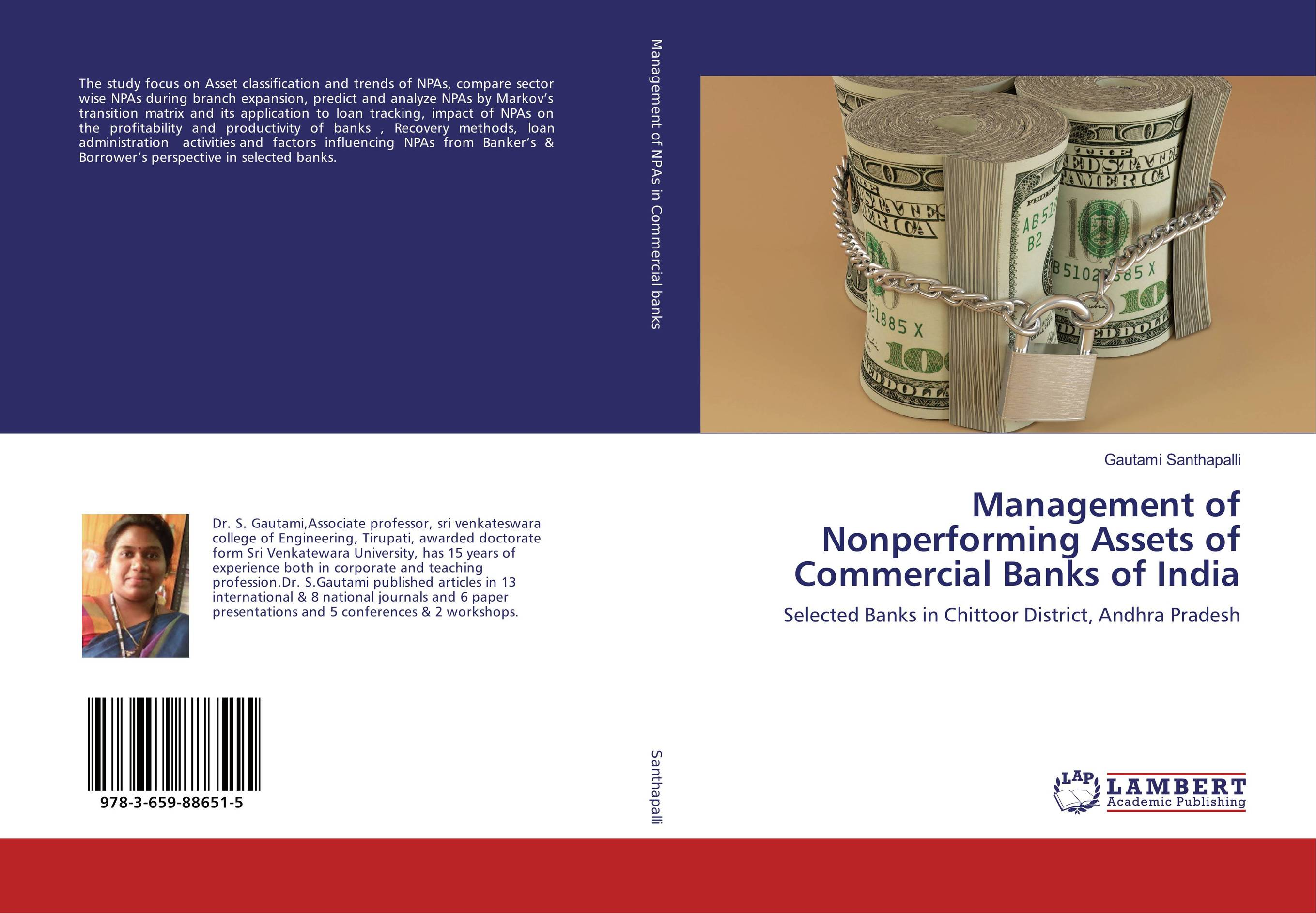 Management of Nonperforming Assets of Commercial Banks of India non performing assets in banks