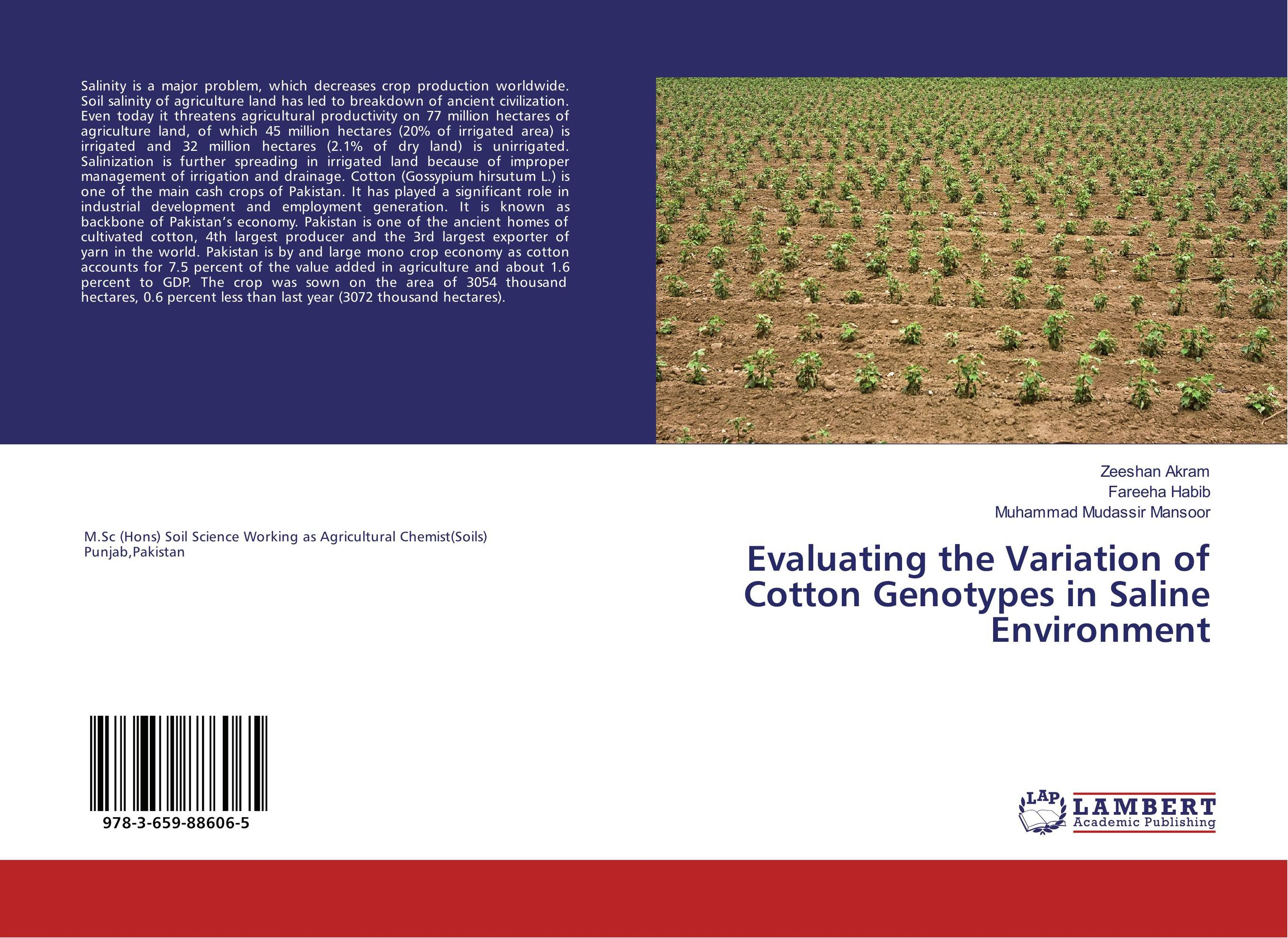 Evaluating the Variation of Cotton Genotypes in Saline Environment dilbag singh gill evaluating overheads of integrated multilevel checkpointing algorithms