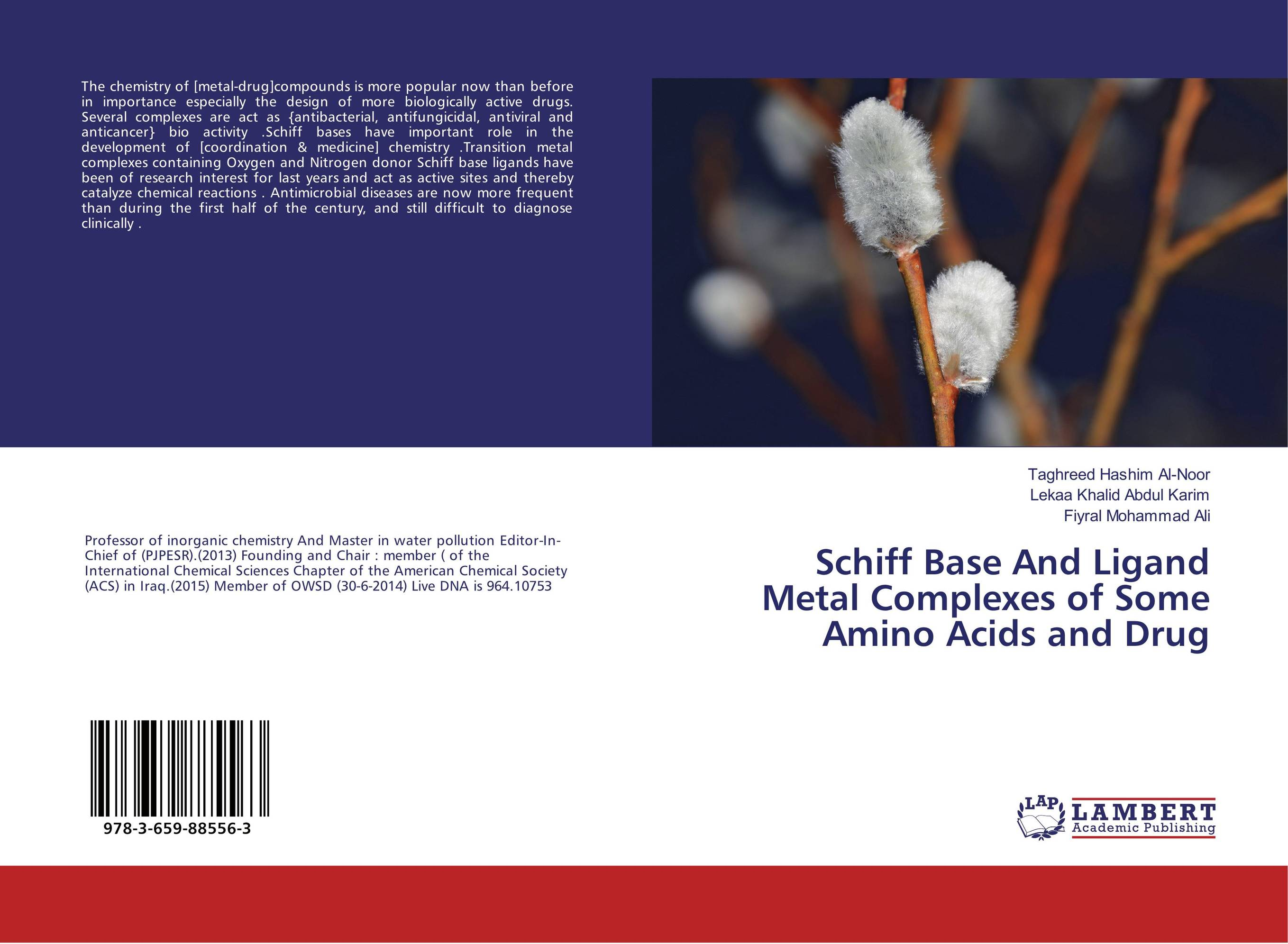 Schiff Base And Ligand Metal Complexes of Some Amino Acids and Drug studies on schiff bases derived from acetophenones