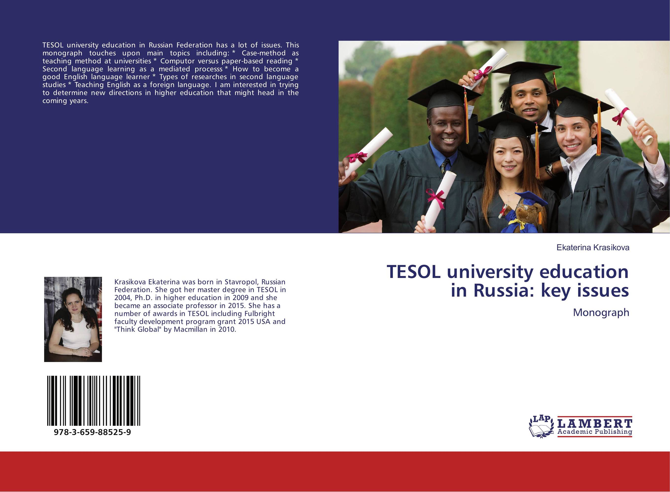TESOL university education in Russia: key issues sports law in russia monograph