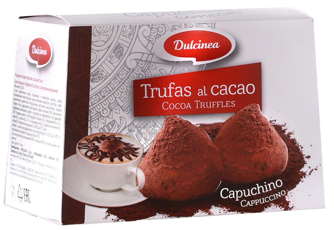 Dulsinea трюфели со вкусом капучино, 200 г8410510105423Нежно-тающая дымка превосходного шоколада из Испании окутает вас блаженством. Этот десерт создан для истинных ценителей колоритных сладостей с ярким и изысканным вкусом.