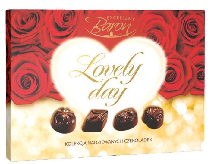 Millano Прелестный день ассорти конфет Baron из молочного шоколада, 115 г5900238589887Набор конфет из молочного шоколада с начинками со вкусами фундука, ириса, вишни с шоколадом и кокосовой стружкой.