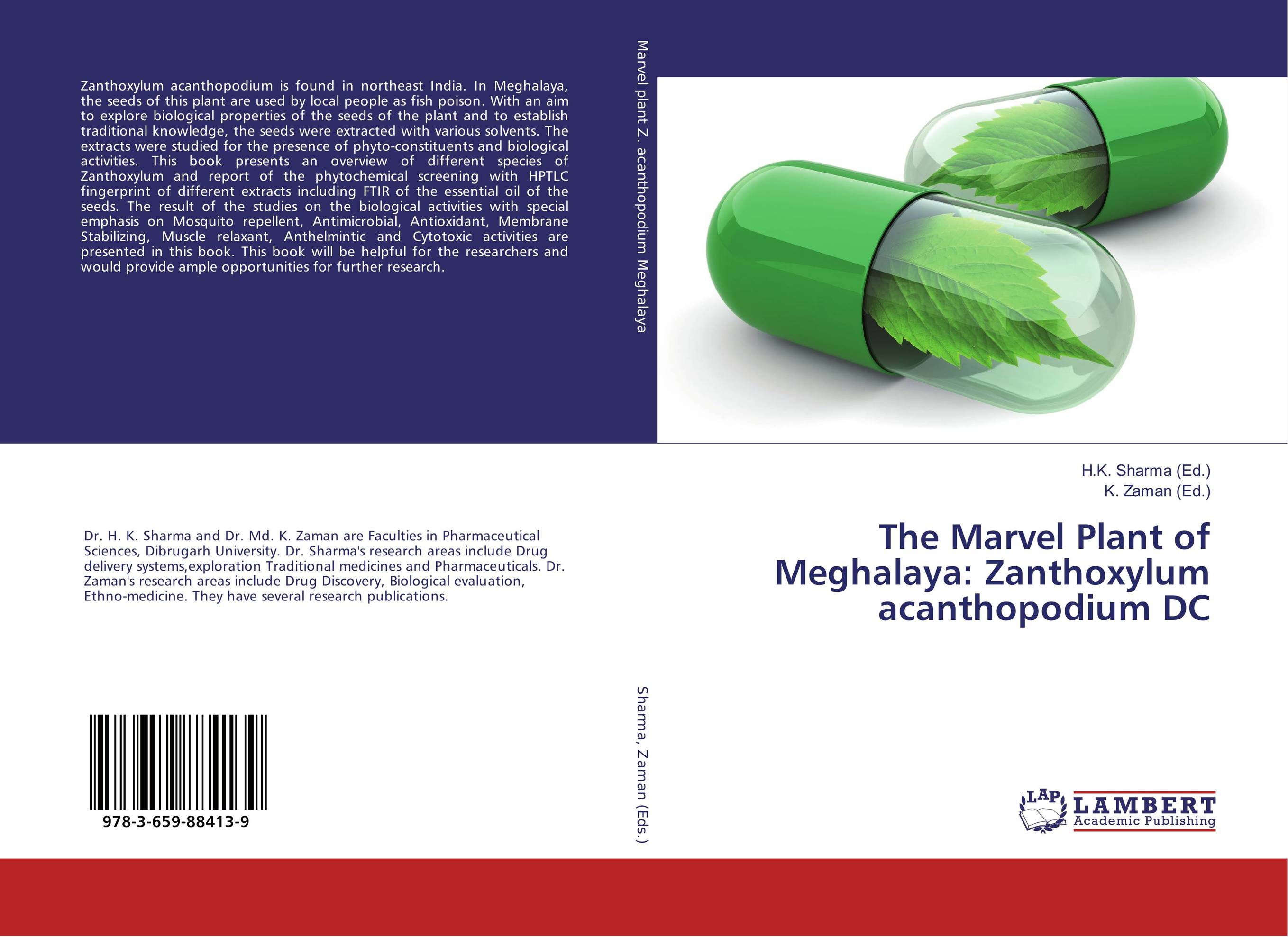 The Marvel Plant of Meghalaya: Zanthoxylum acanthopodium DC effect of medicinal plant extracts on the viability of protoscoleces