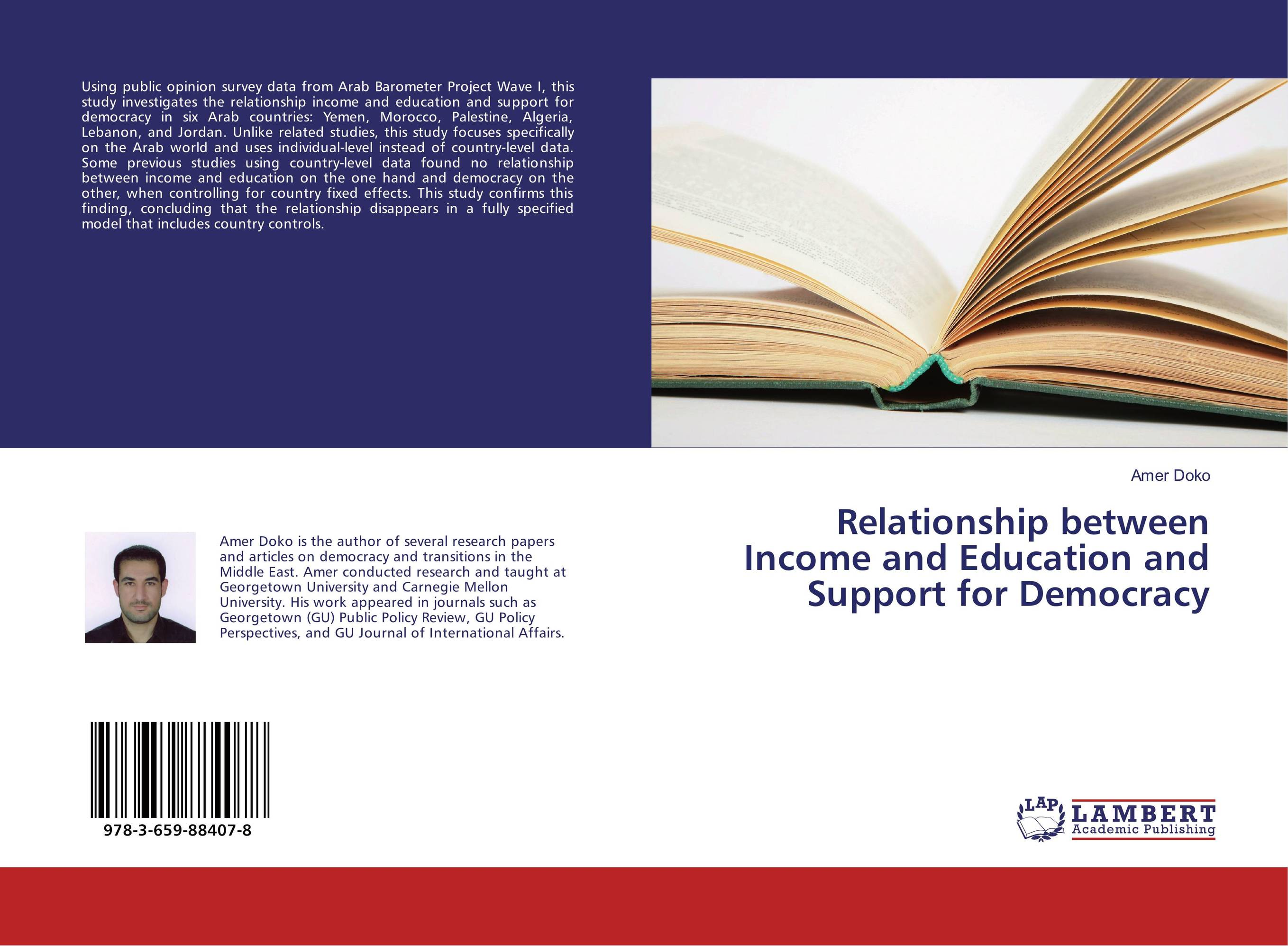 Relationship between Income and Education and Support for Democracy moorad choudhry fixed income securities and derivatives handbook