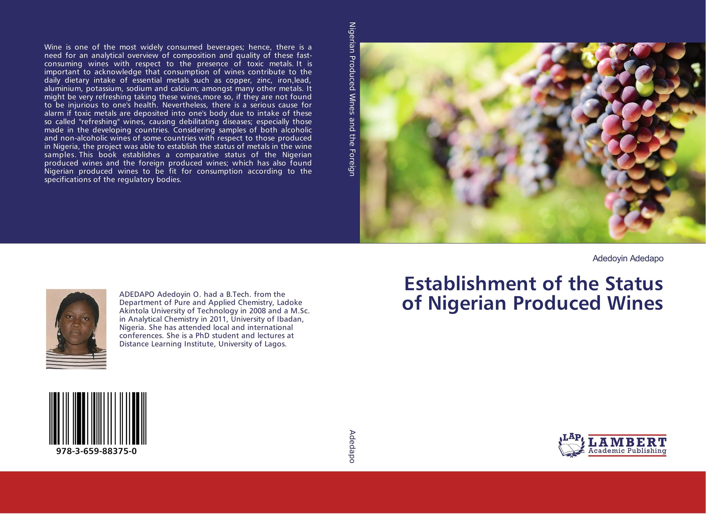 Establishment of the Status of Nigerian Produced Wines ghanaian and nigerian english some comparative phonological features
