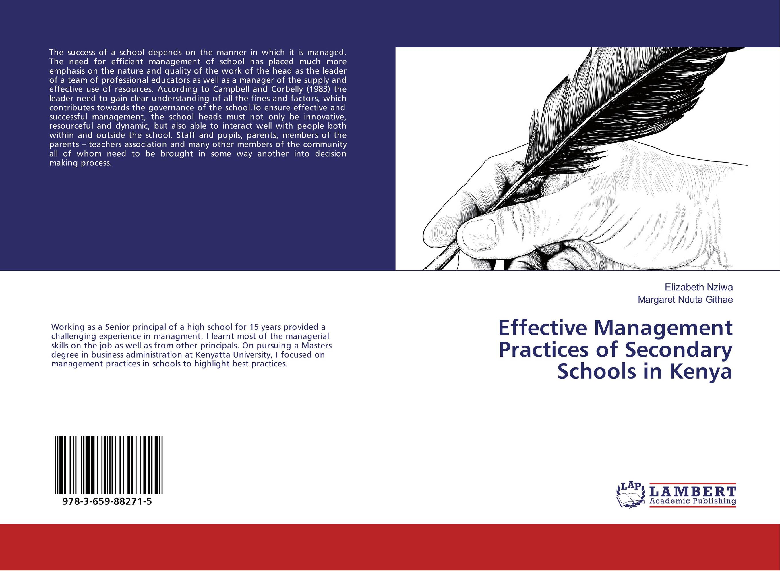 Effective Management Practices of Secondary Schools in Kenya the analysis of management of schools