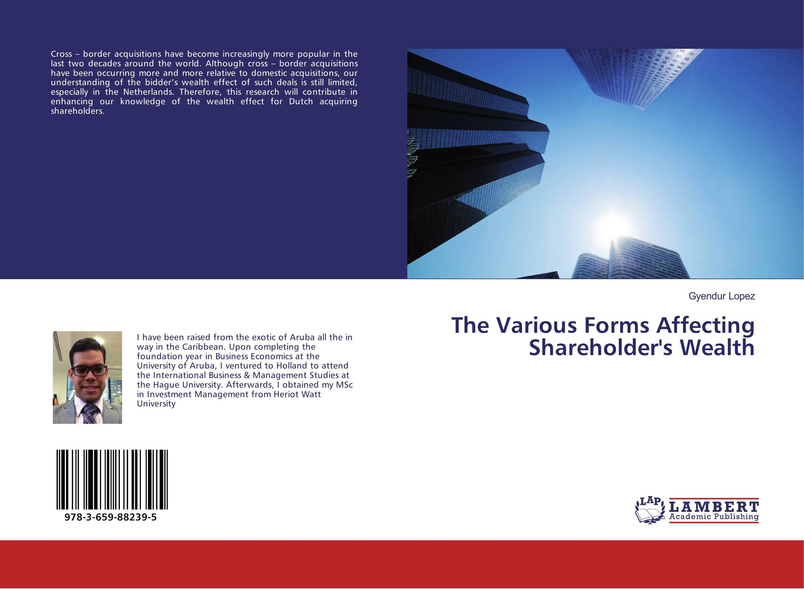 The Various Forms Affecting Shareholder's Wealth цена и фото