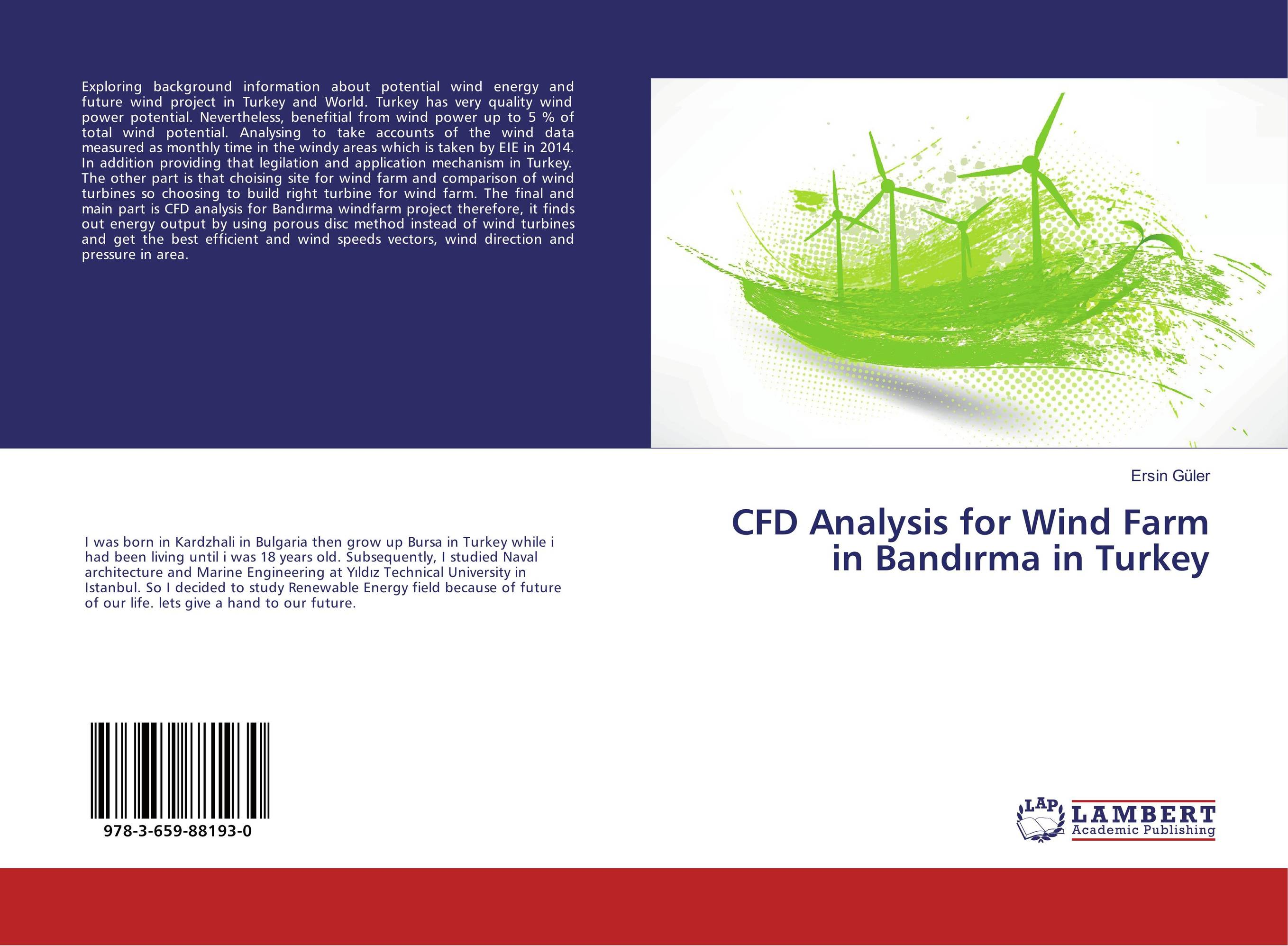 CFD Analysis for Wind Farm in Band?rma in Turkey купить