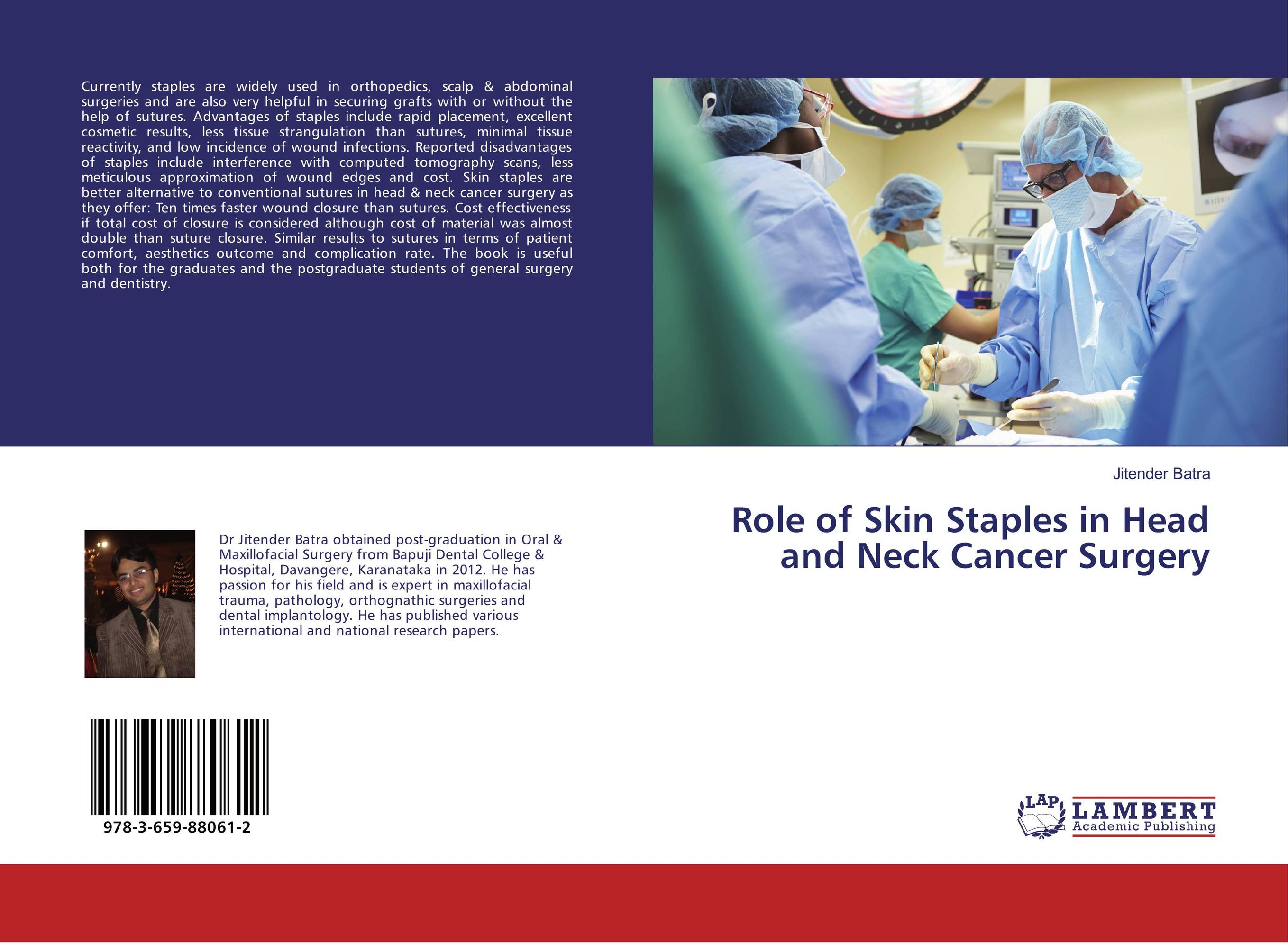 Role of Skin Staples in Head and Neck Cancer Surgery cryosurgery in oral and maxillofacial surgery