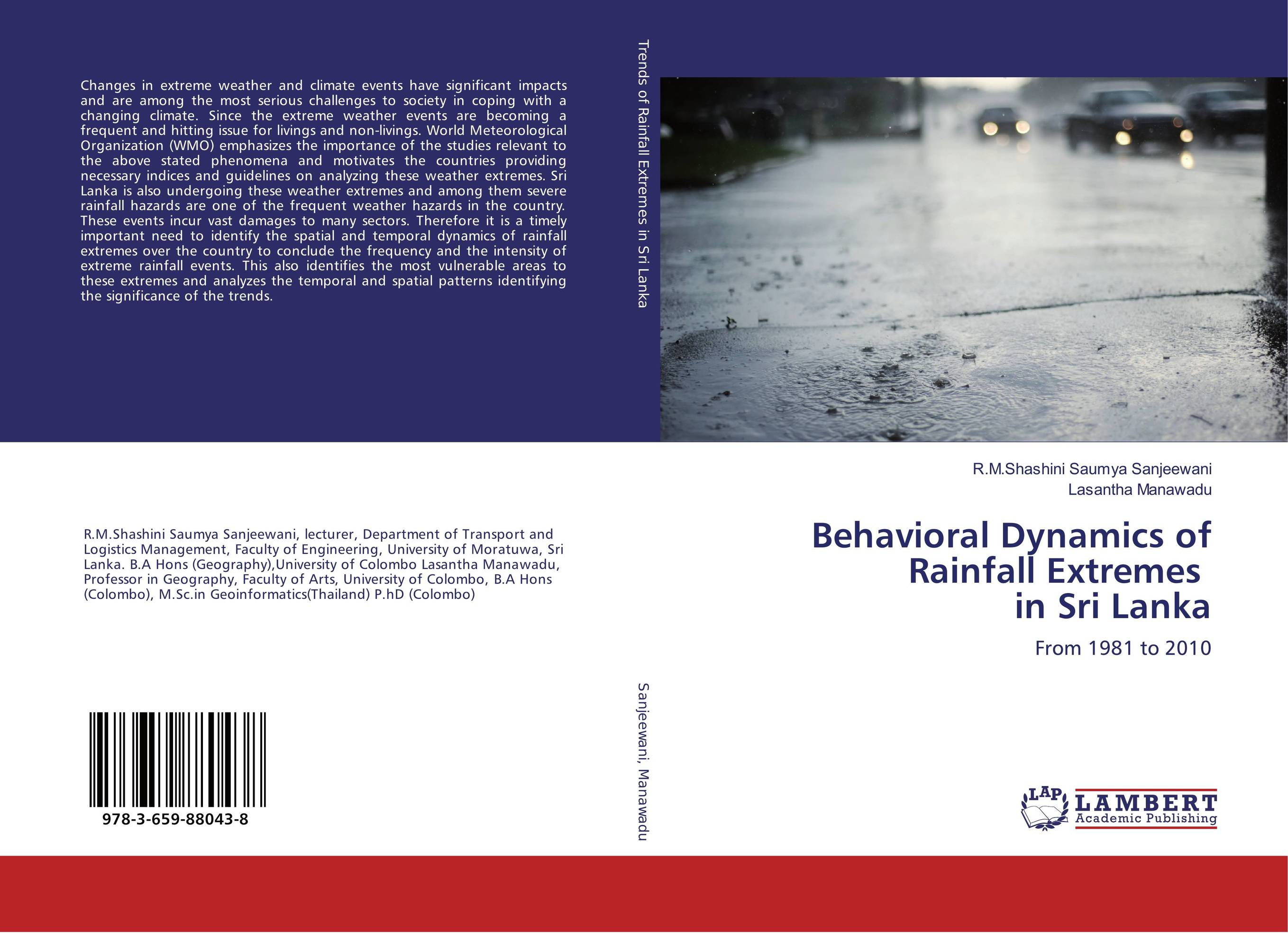 Behavioral Dynamics of Rainfall Extremes in Sri Lanka extreme weather