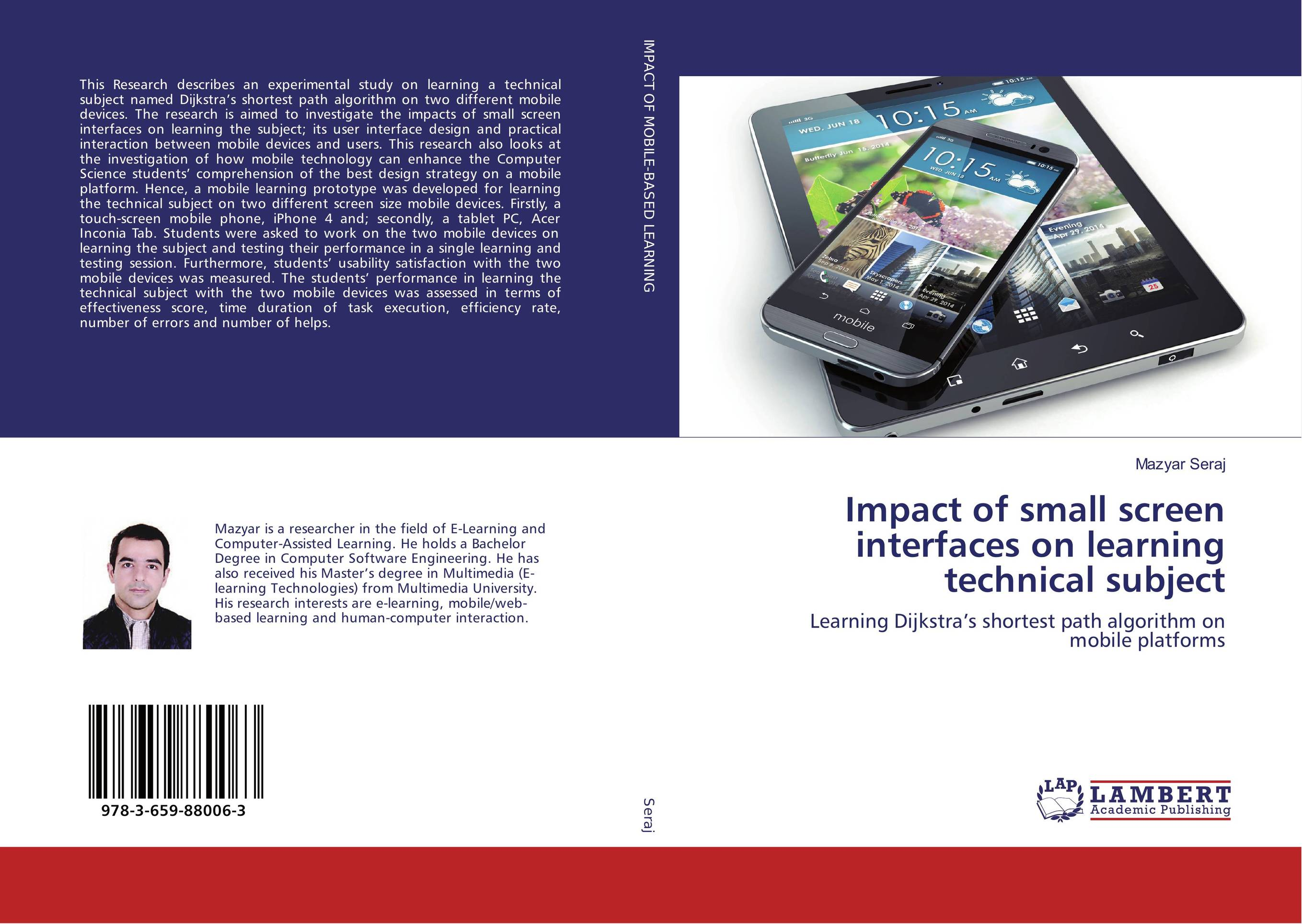 Impact of small screen interfaces on learning technical subject mastering mobile learning