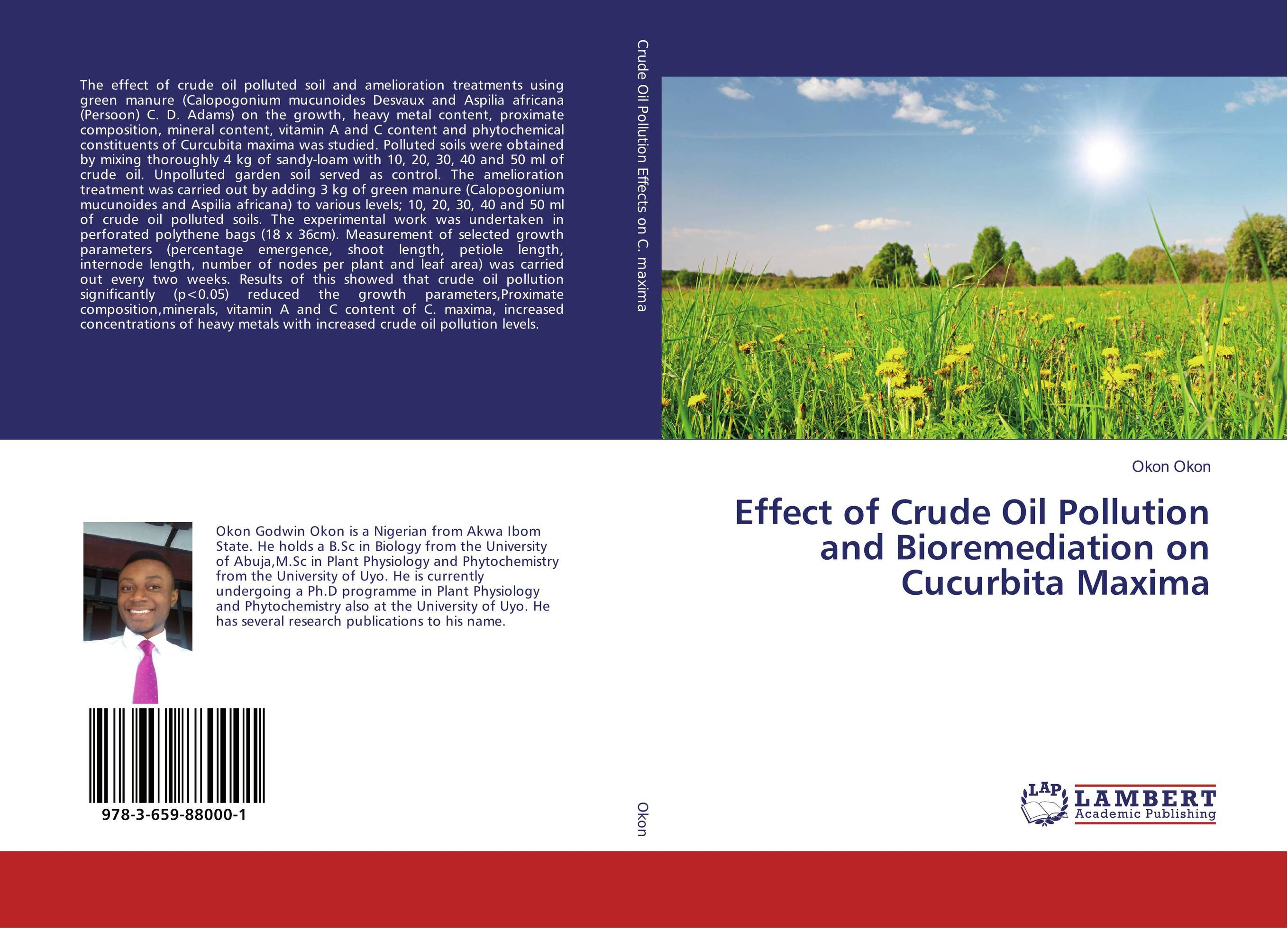 Effect of Crude Oil Pollution and Bioremediation on Cucurbita Maxima dearomatization of crude oil