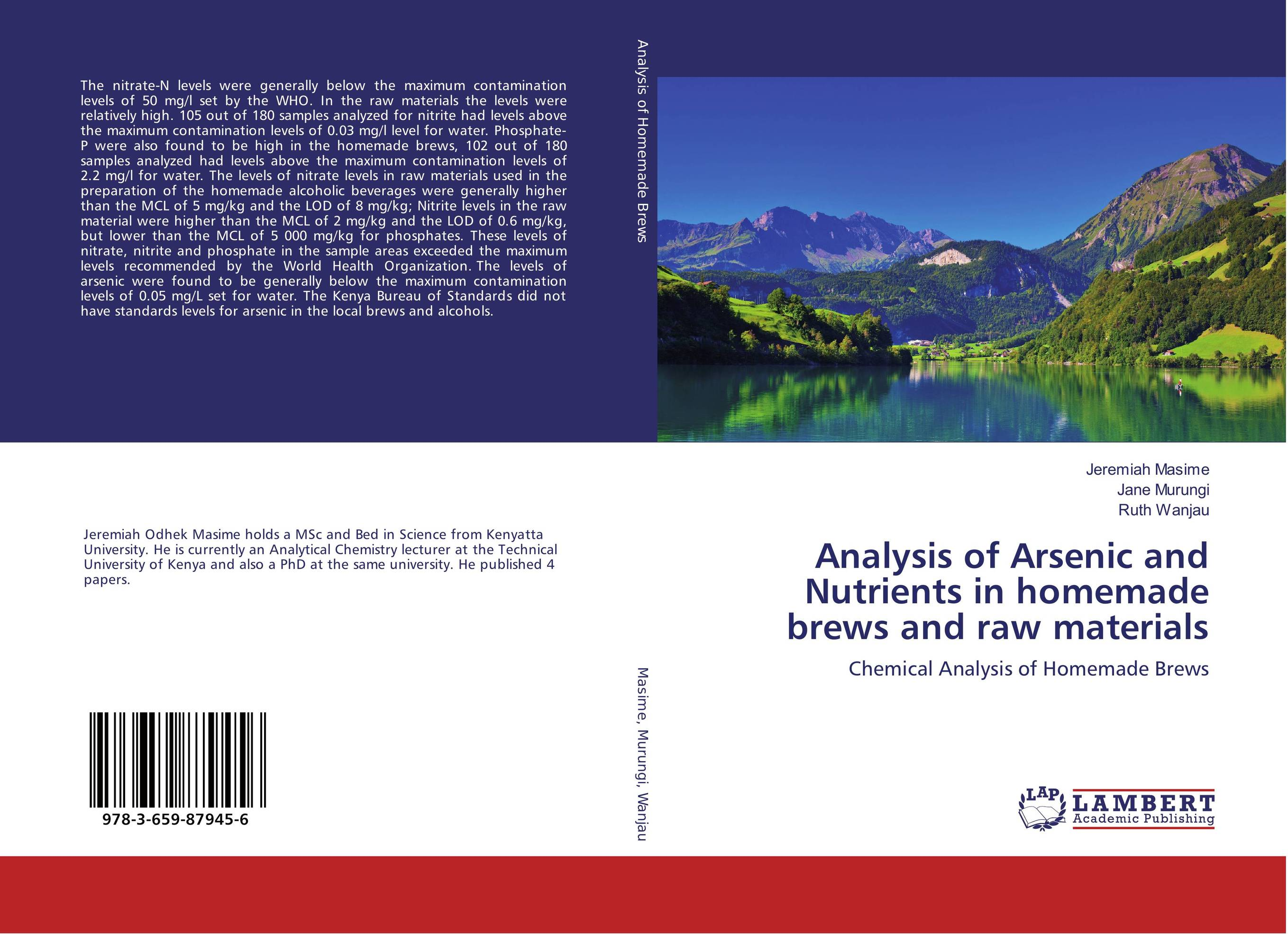 Analysis of Arsenic and Nutrients in homemade brews and raw materials found in brooklyn