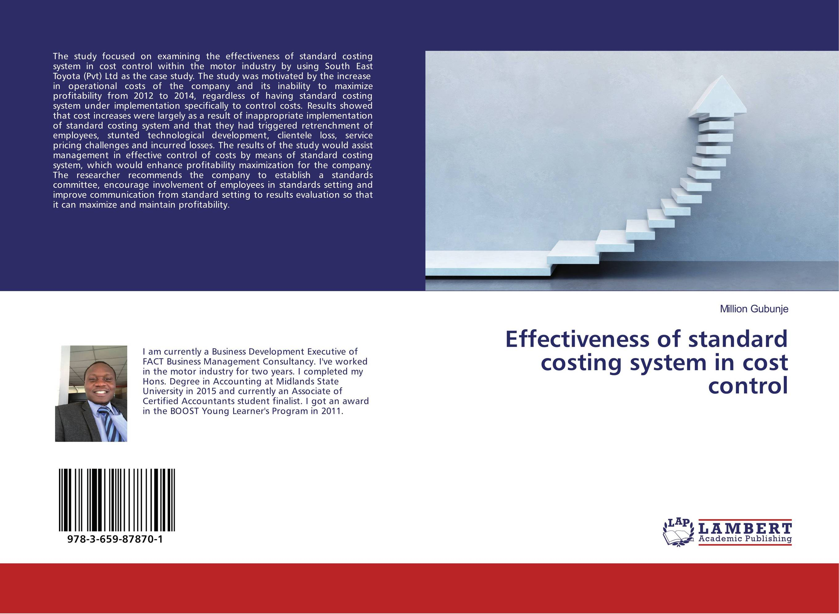 Effectiveness of standard costing system in cost control
