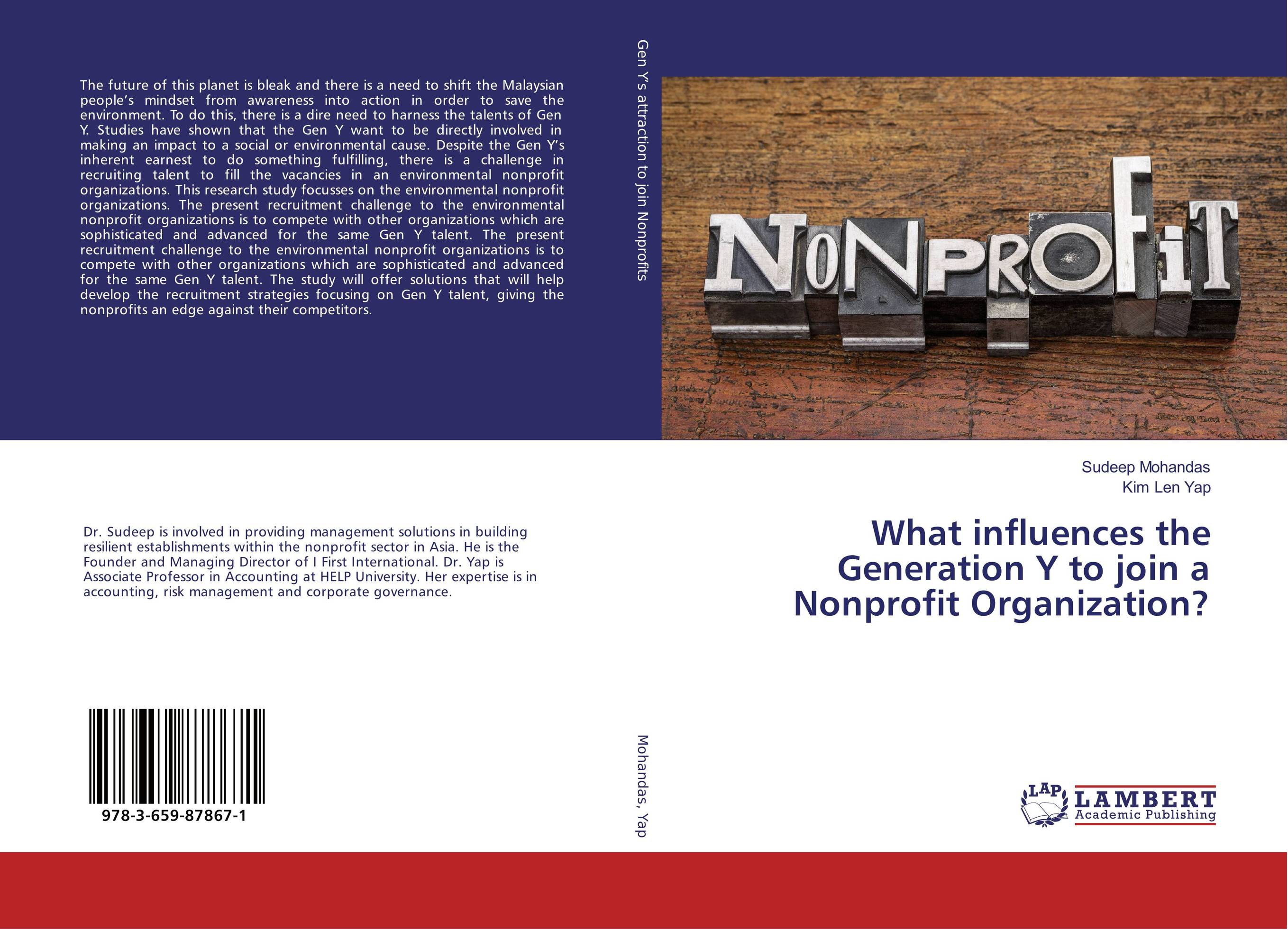 What influences the Generation Y to join a Nonprofit Organization? barry mcleish j successful marketing strategies for nonprofit organizations winning in the age of the elusive donor