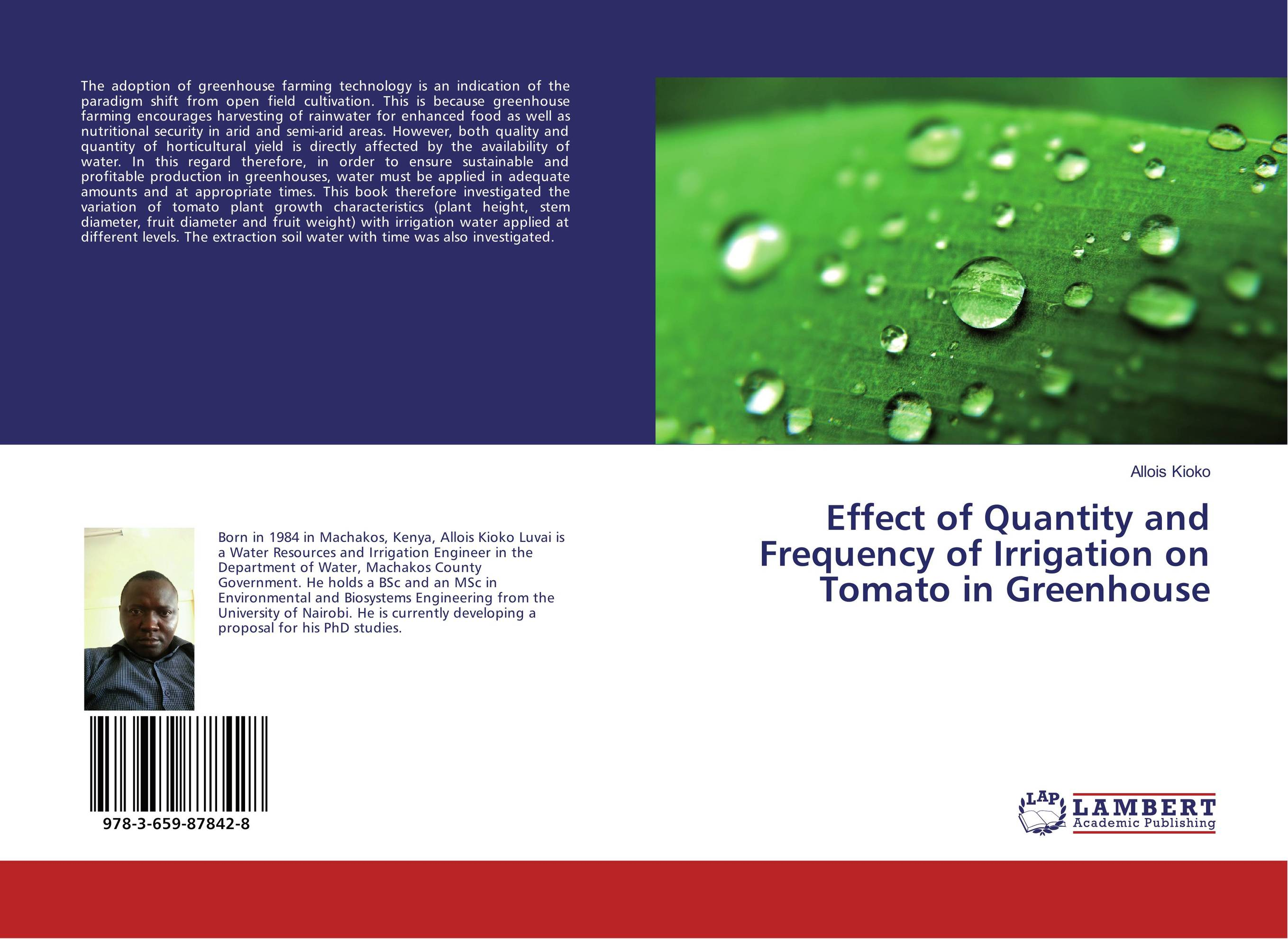 Effect of Quantity and Frequency of Irrigation on Tomato in Greenhouse ornamental plant production in recycled water