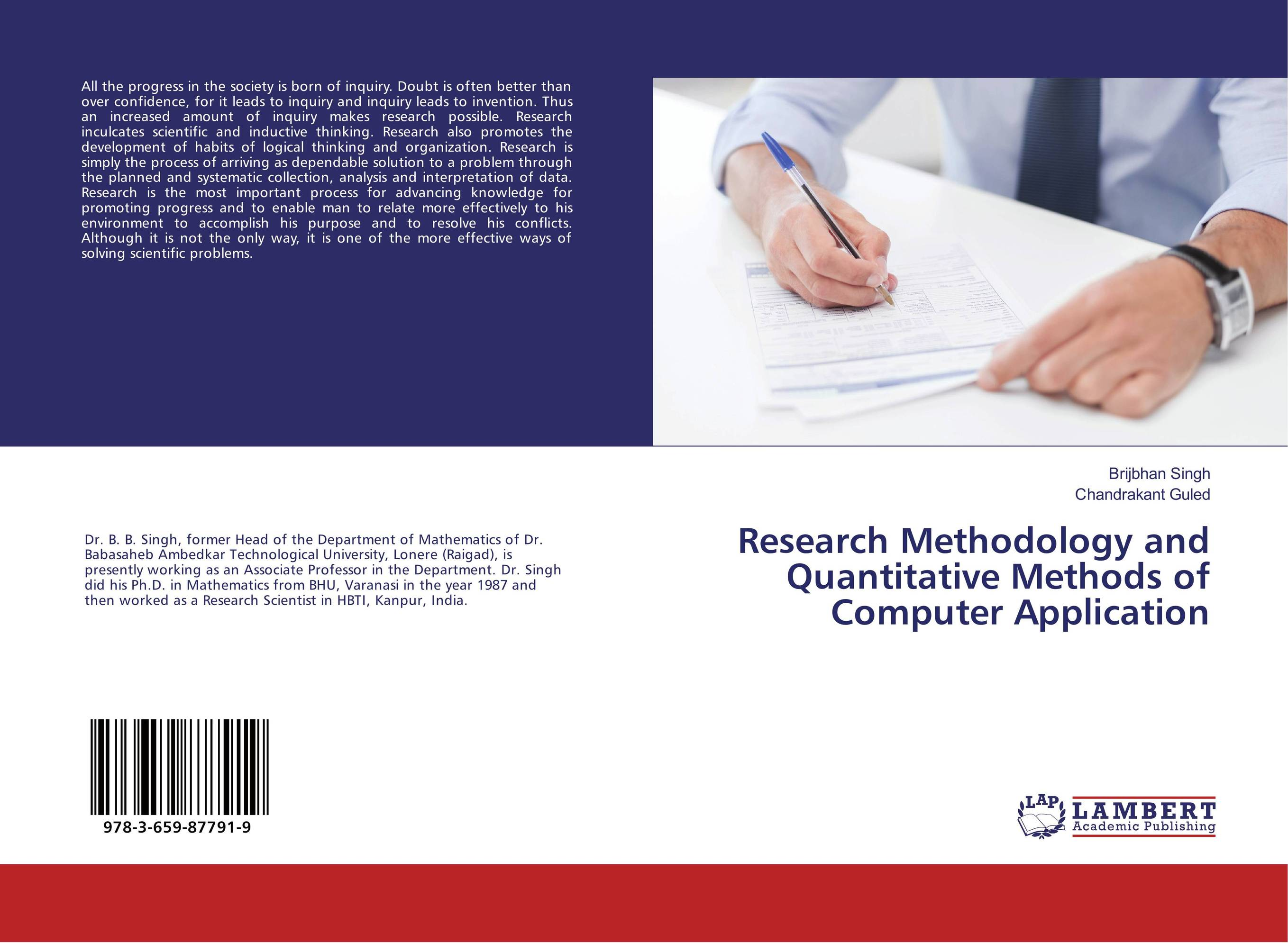 Research Methodology and Quantitative Methods of Computer Application joseph lane an answer to the inquiry into the state of the nation