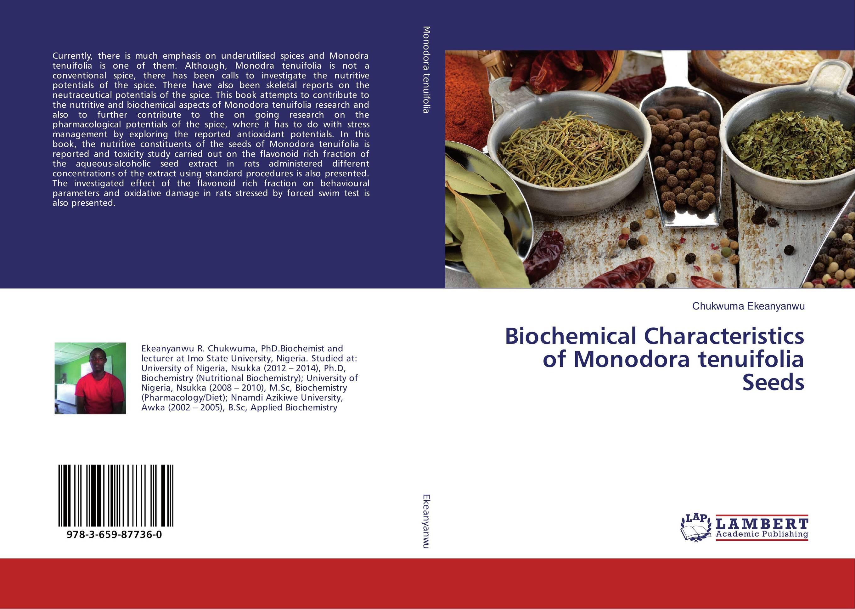 Biochemical Characteristics of Monodora tenuifolia Seeds paeonia tenuifolia l f plena