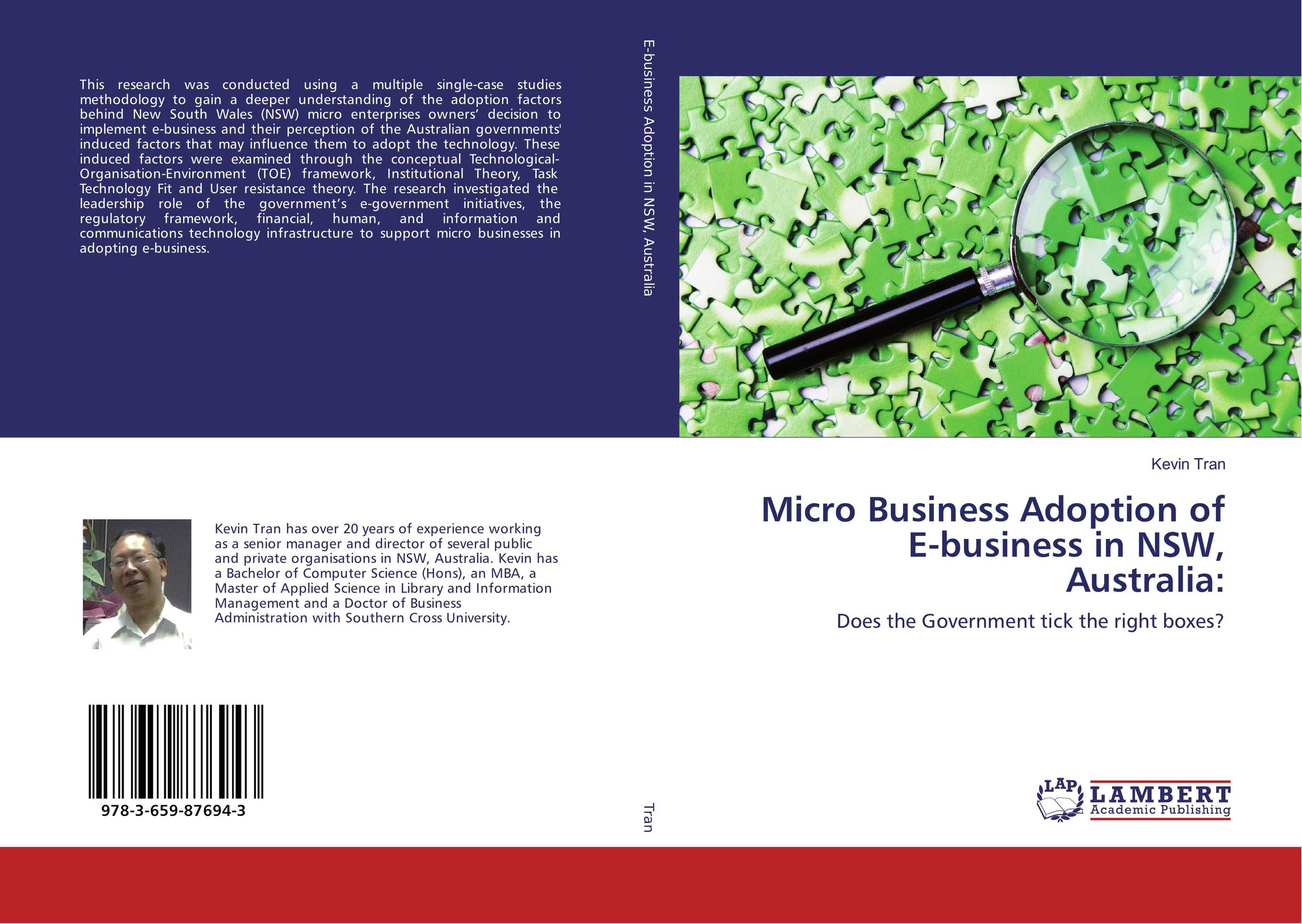 Micro Business Adoption of E-business in NSW, Australia: factors affecting e commerce adoption