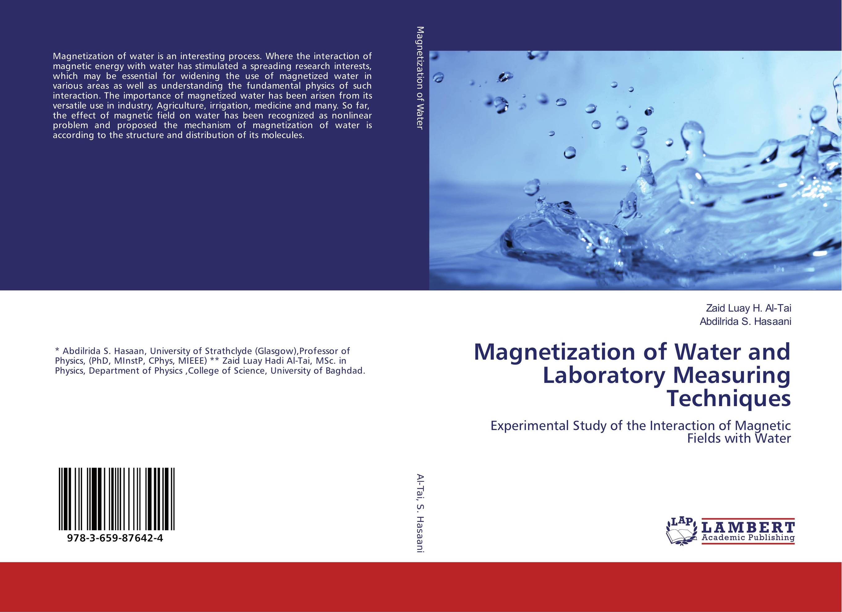 Magnetization of Water and Laboratory Measuring Techniques