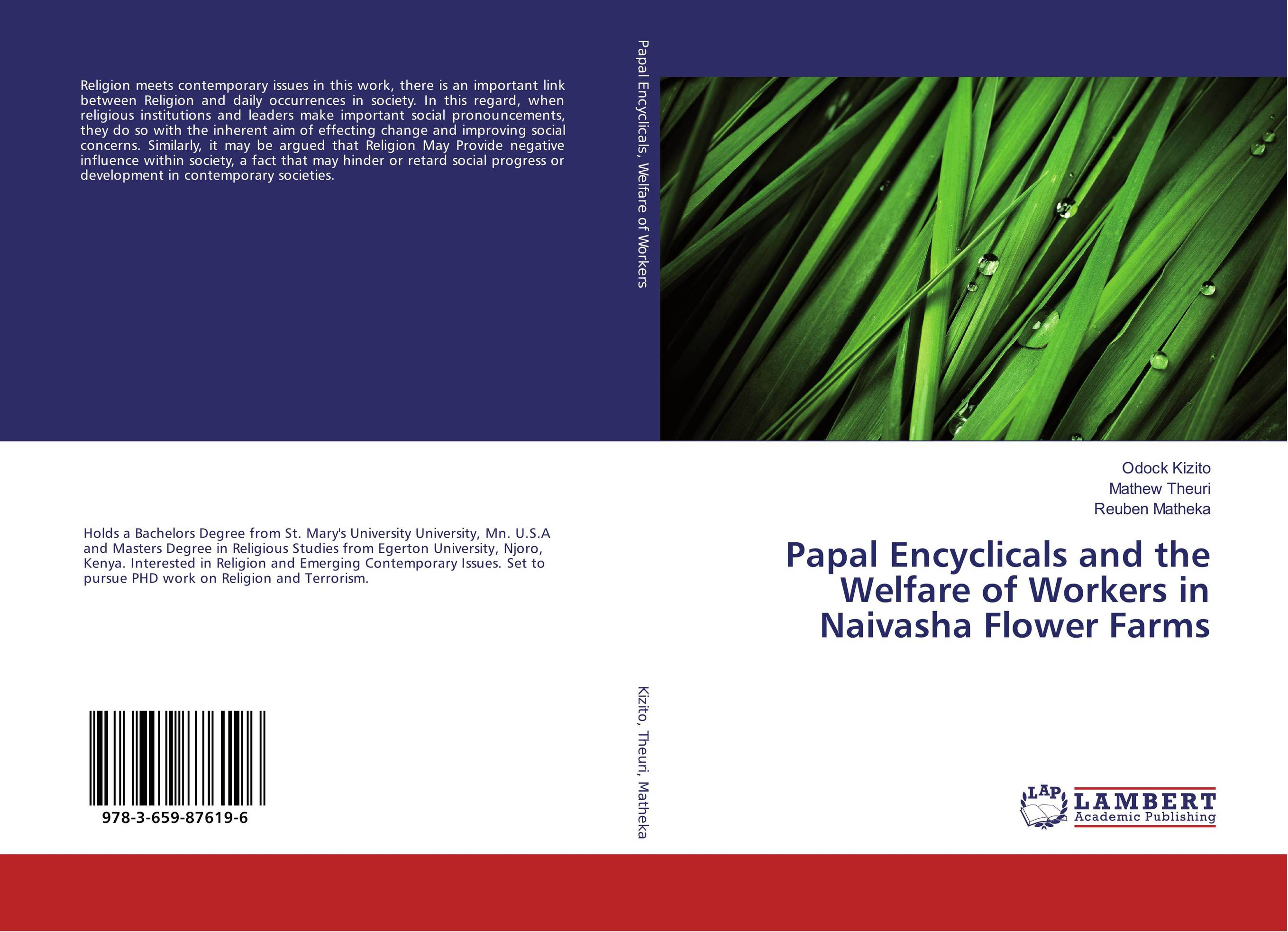 Papal Encyclicals and the Welfare of Workers in Naivasha Flower Farms promoting social change in the arab gulf