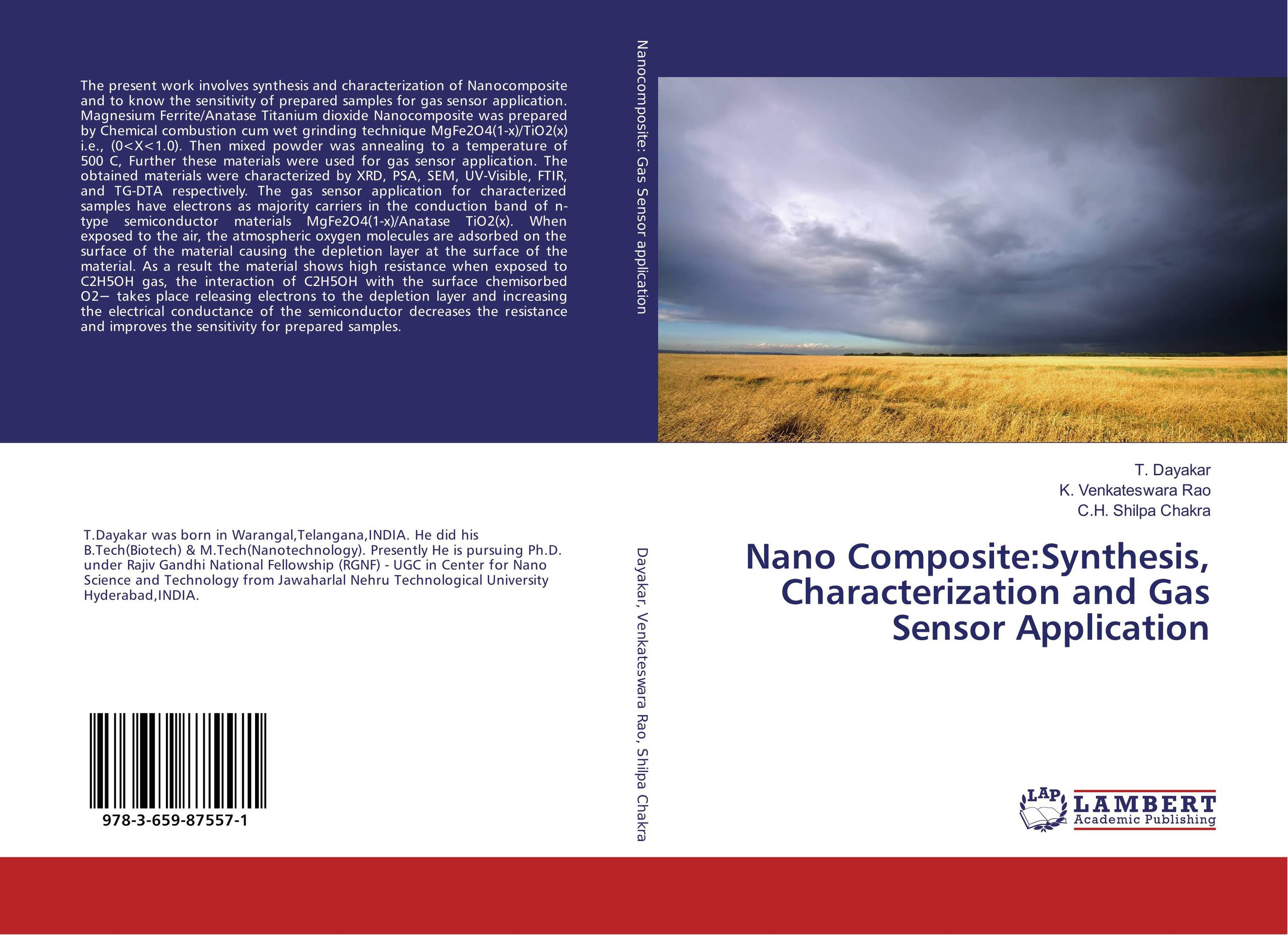 Nano Composite:Synthesis, Characterization and Gas Sensor Application synthesis characterization and applications of nano cdha