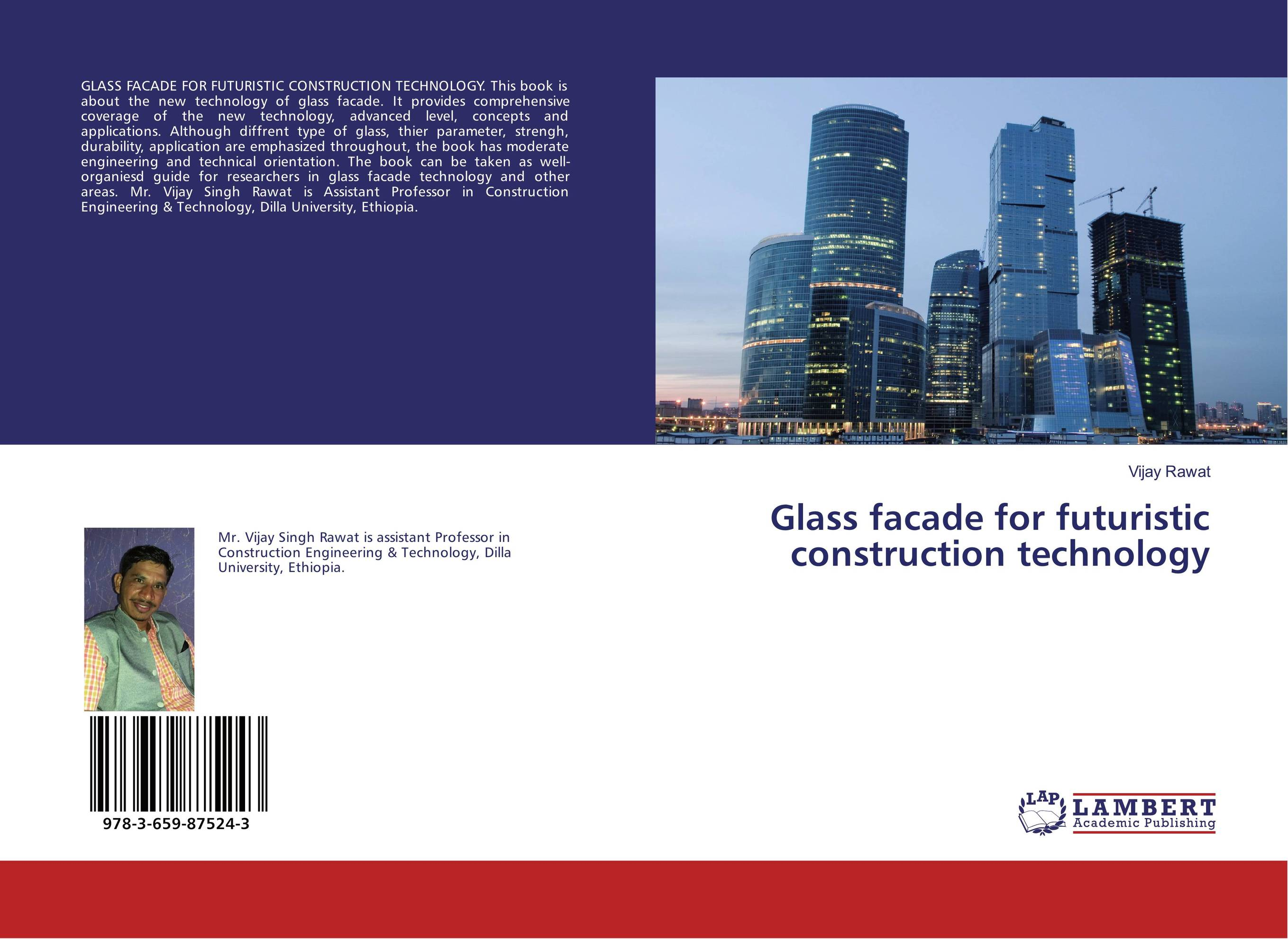Glass facade for futuristic construction technology advanced engine technology