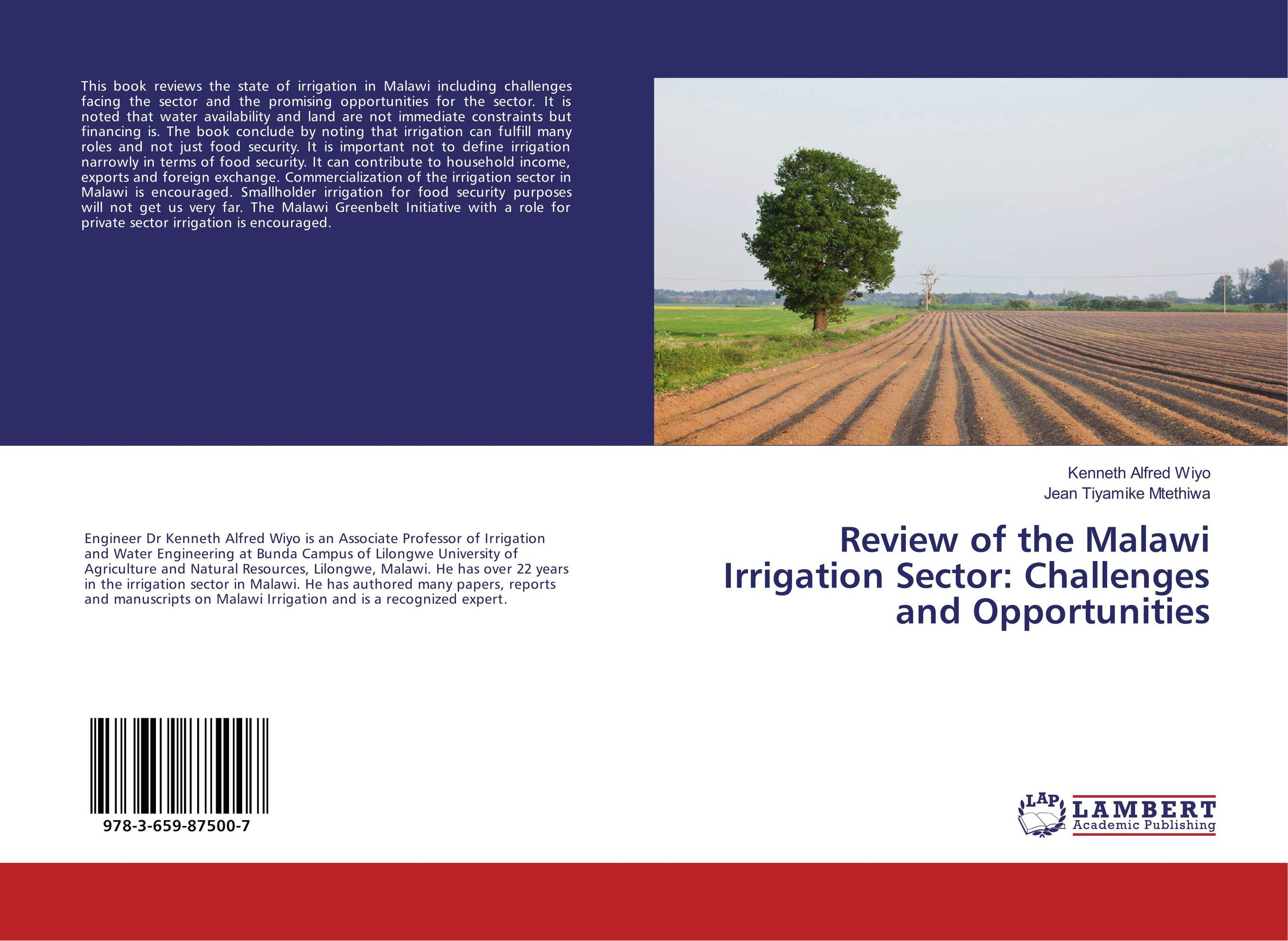 Review of the Malawi Irrigation Sector: Challenges and Opportunities sikhulumile sinyolo smallholder irrigation water security and rural household welfare