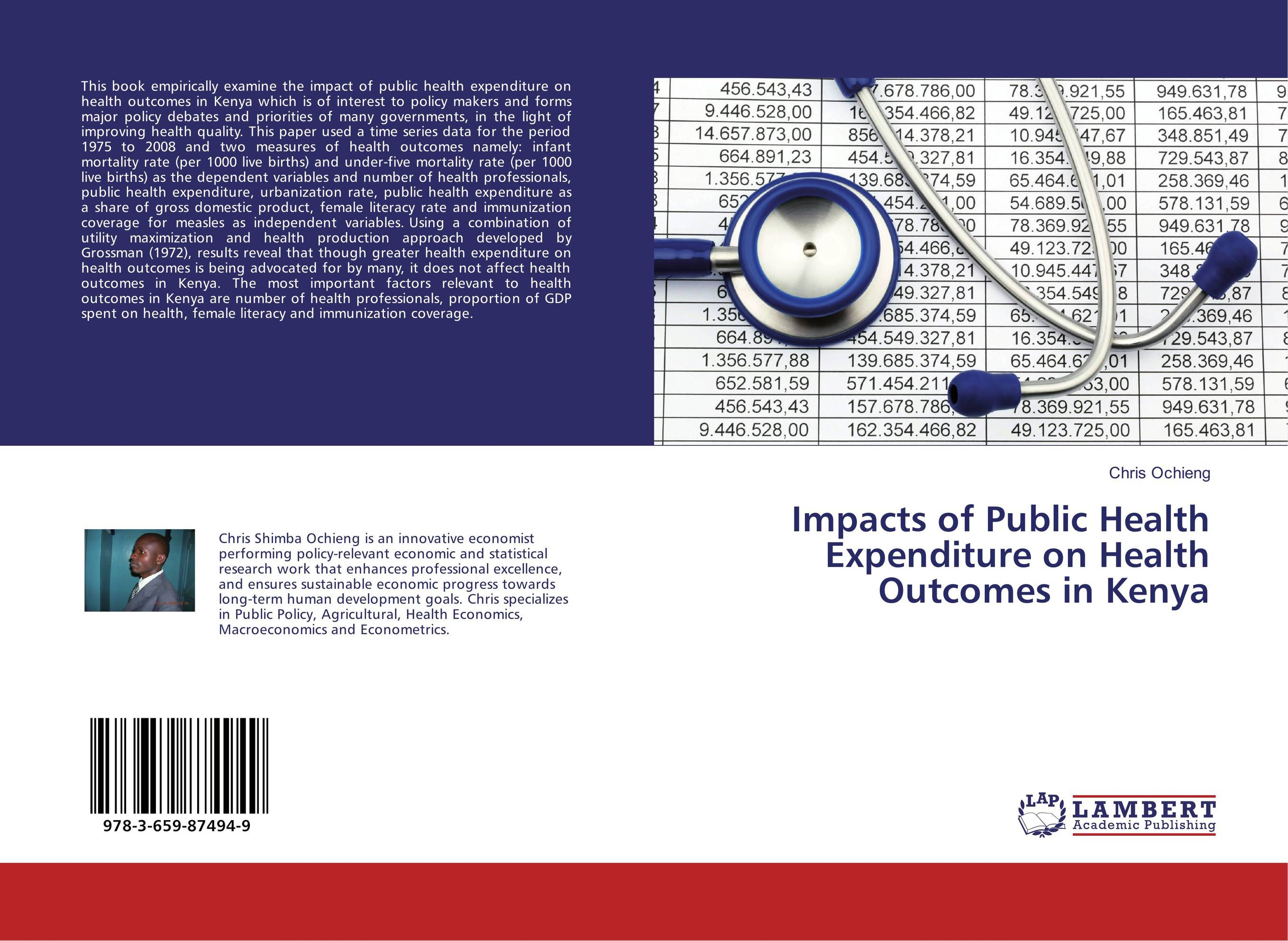 Impacts of Public Health Expenditure on Health Outcomes in Kenya цена и фото