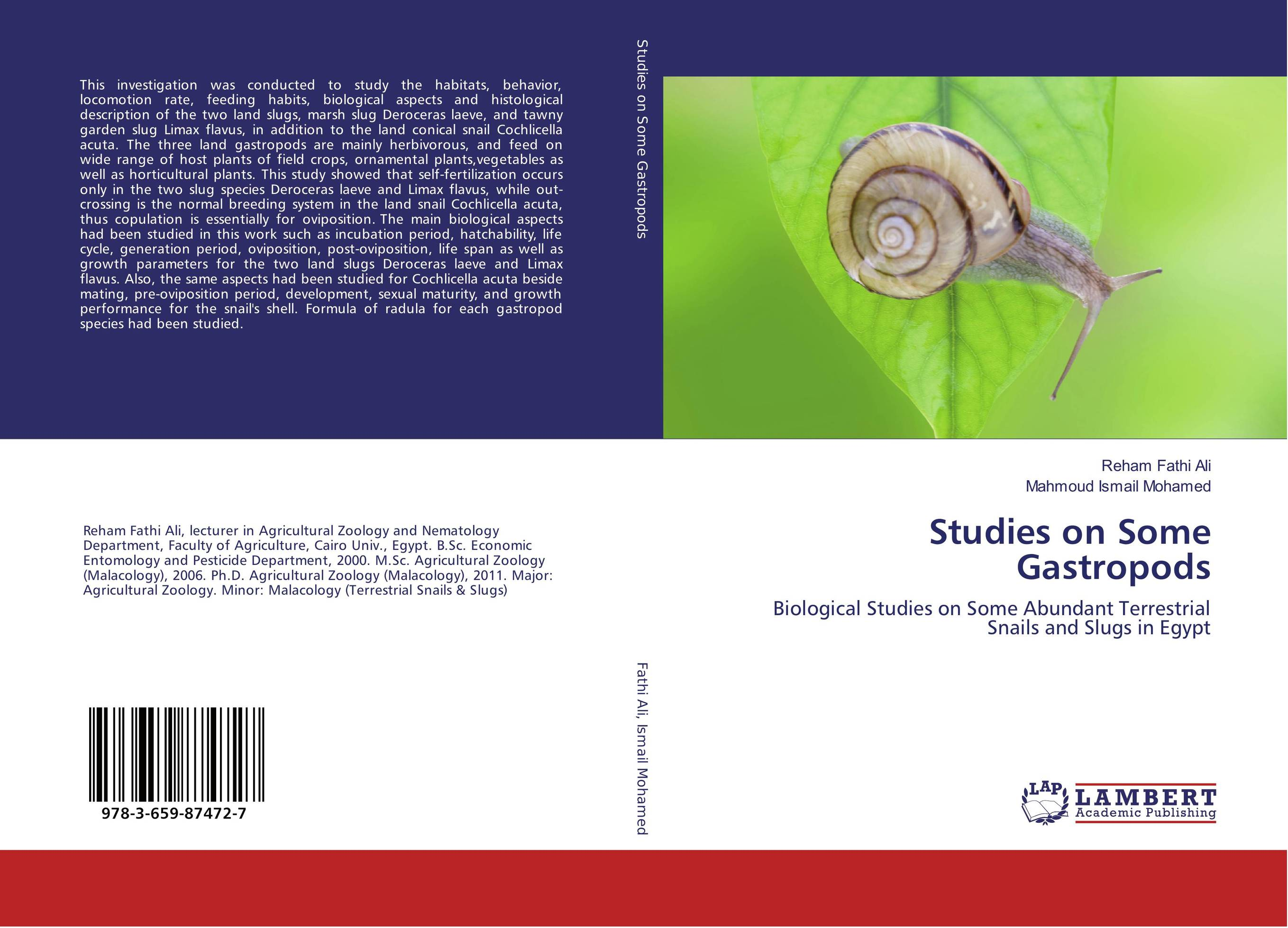 Studies on Some Gastropods studies on some snails associated with different crops