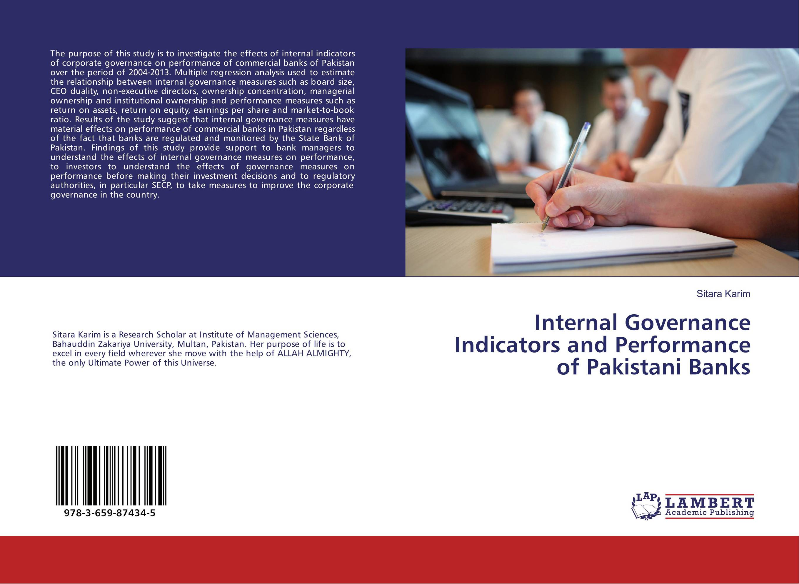 Internal Governance Indicators and Performance of Pakistani Banks