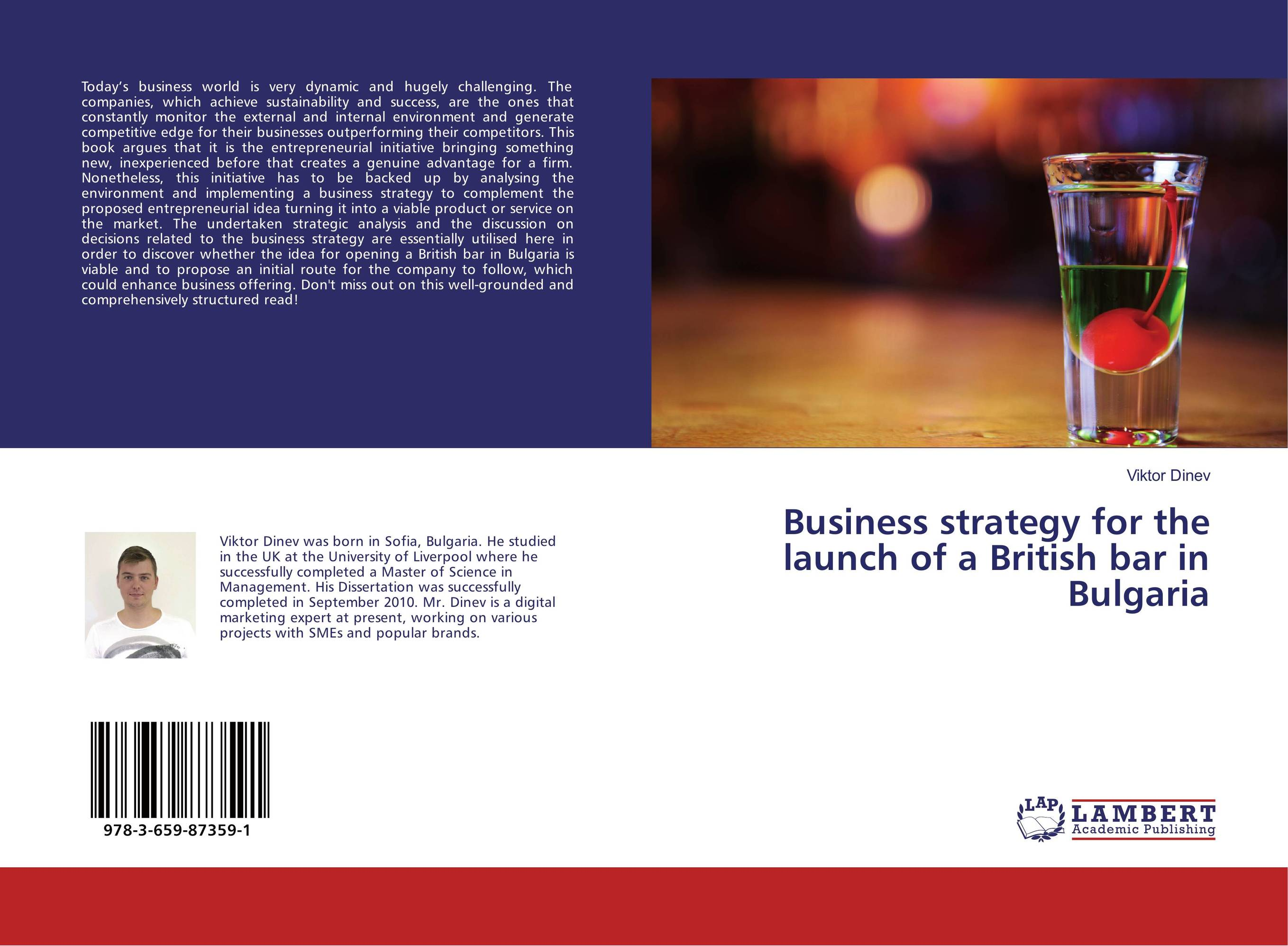 Business strategy for the launch of a British bar in Bulgaria