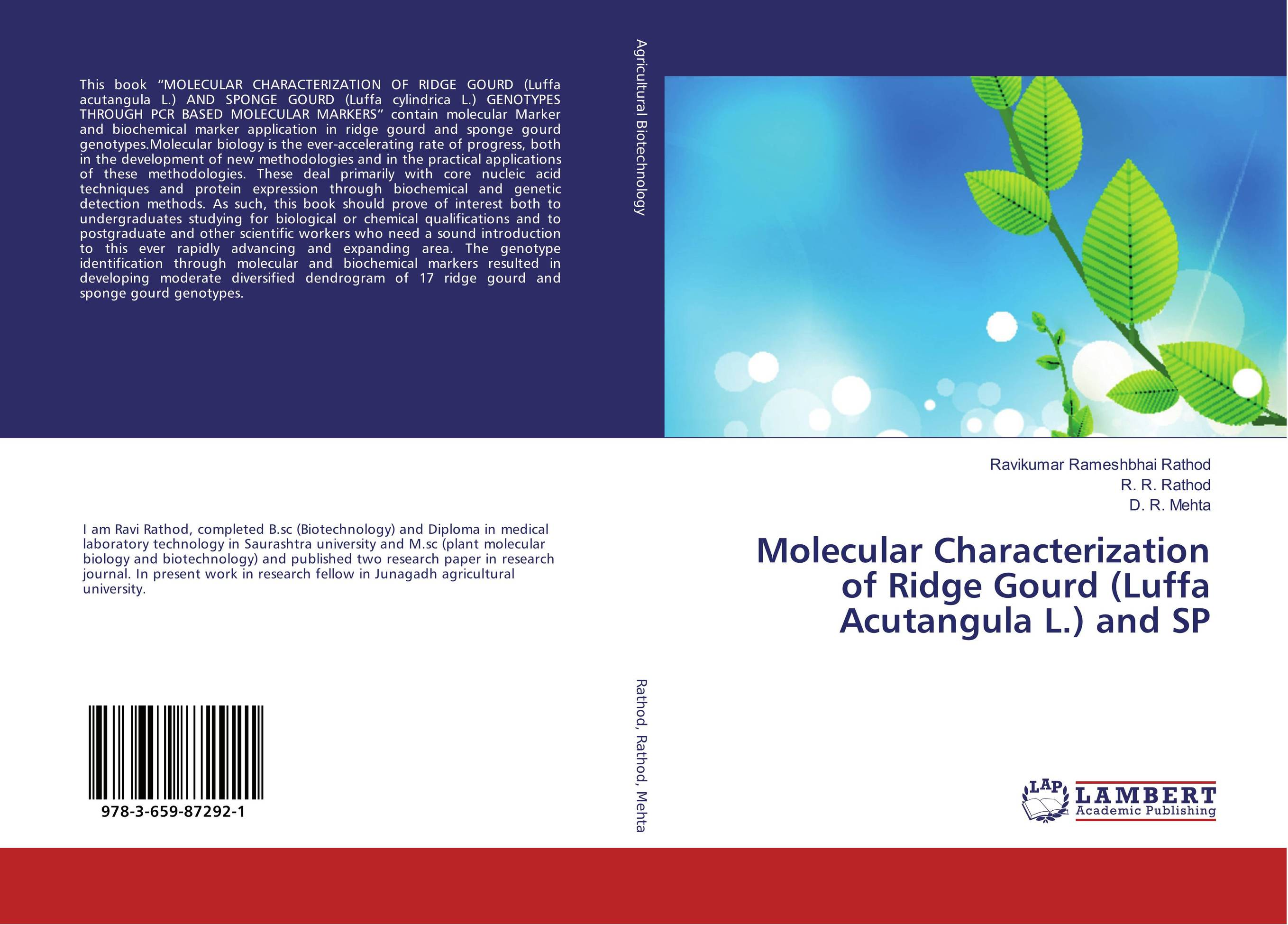 Molecular Characterization of Ridge Gourd (Luffa Acutangula L.) and SP progress in nucleic acid research and molecular biology volume 82 progress in nucleic acid research and molecular biology progress in nucleic acid research and molecular biology