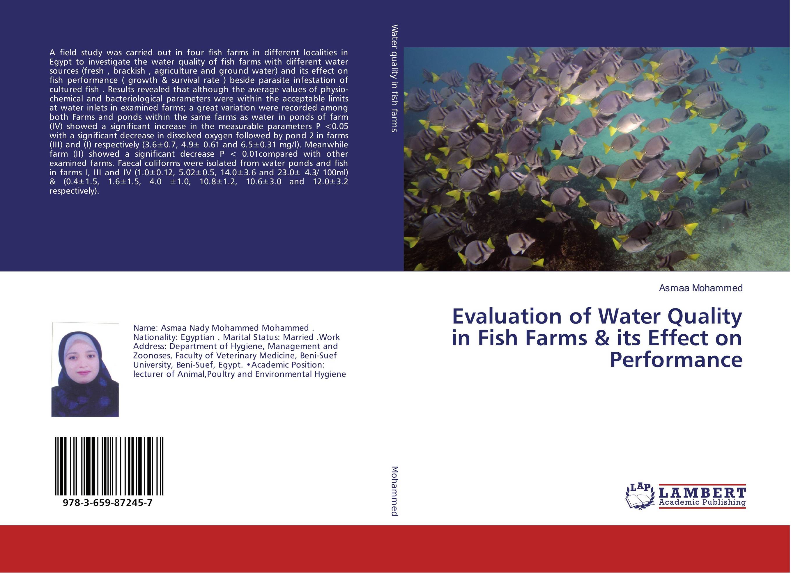 Evaluation of Water Quality in Fish Farms & its Effect on Performance performance evaluation of security algorithms in a wi fi testbed