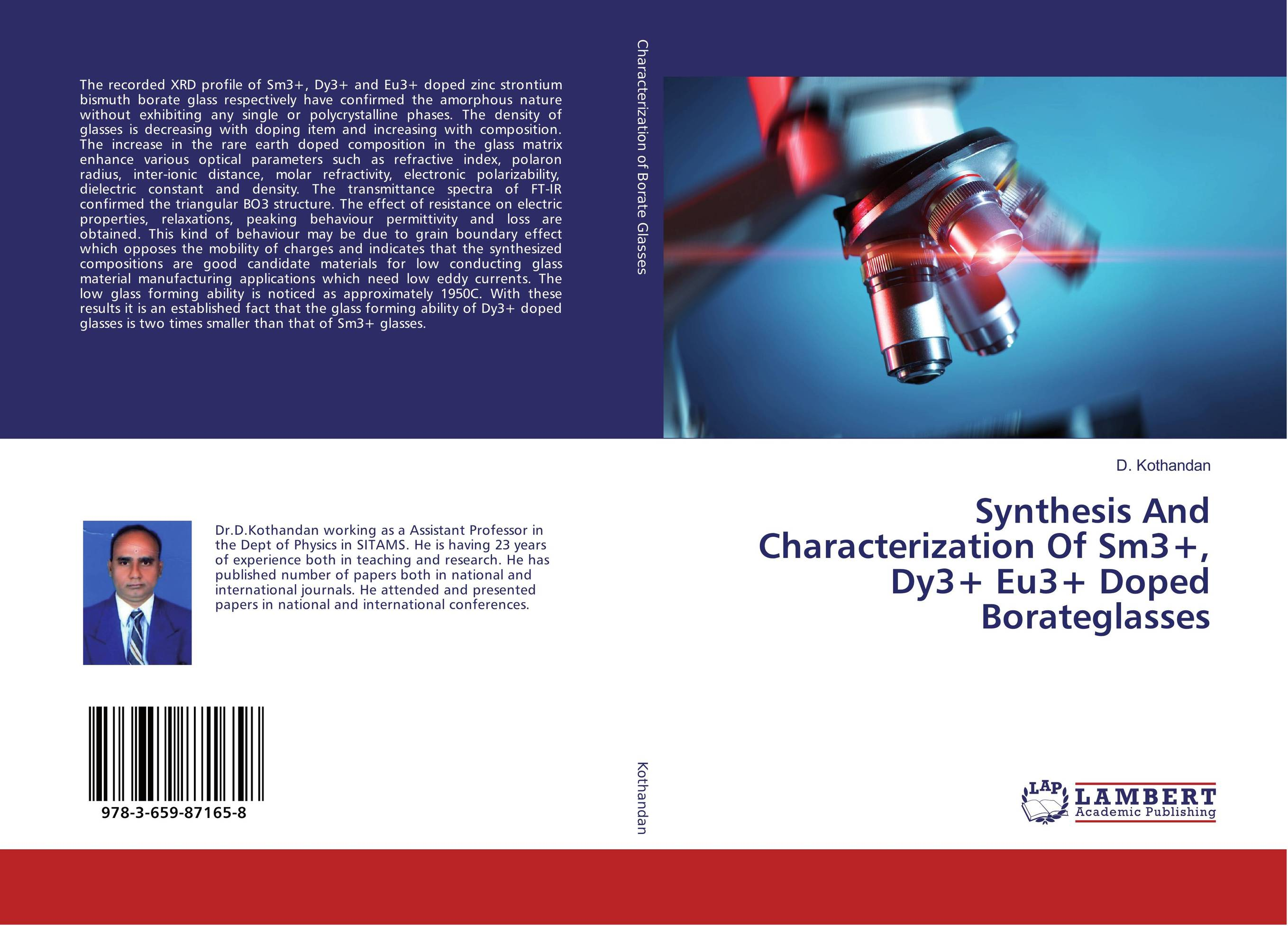 Synthesis And Characterization Of Sm3+, Dy3+ Eu3+ Doped Borateglasses synthesis characterization and applications of nano cdha