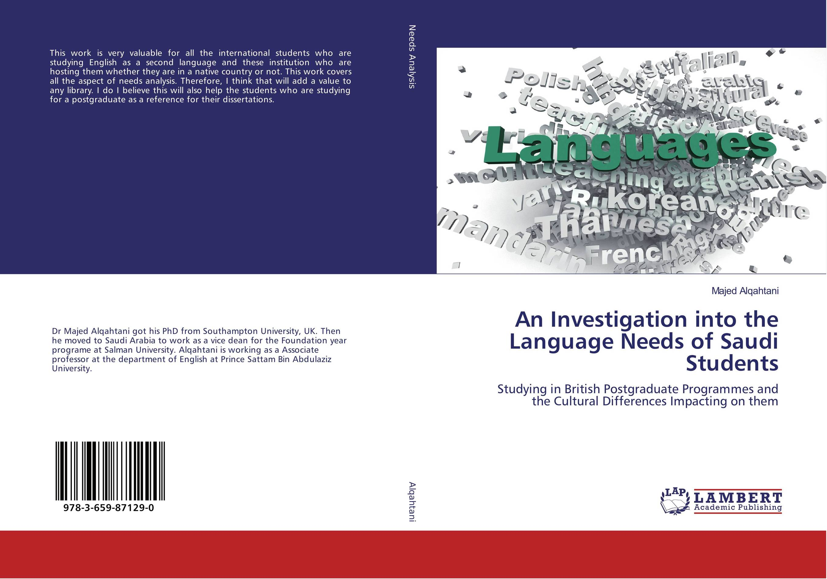 An Investigation into the Language Needs of Saudi Students james wasajja the english language communicative needs among international students