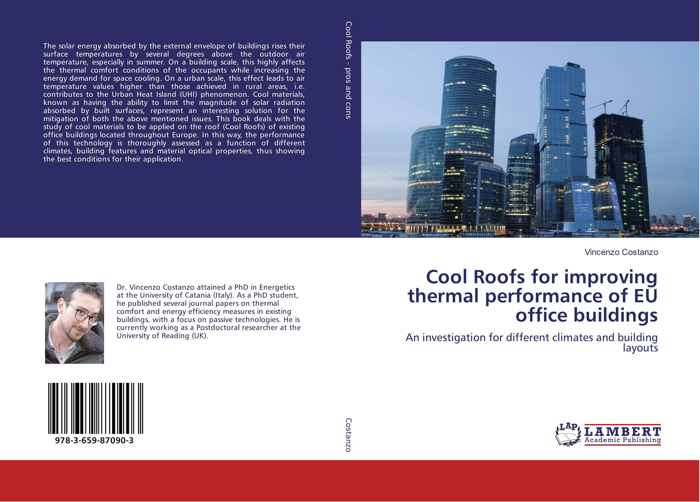 Cool Roofs for improving thermal performance of EU office buildings benoit beckers solar energy at urban scale