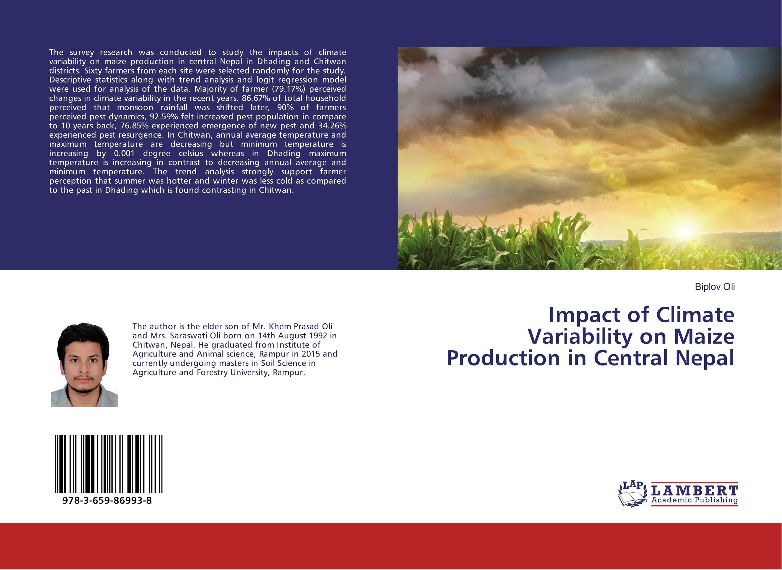 Impact of Climate Variability on Maize Production in Central Nepal suh jude abenwi the economic impact of climate variability