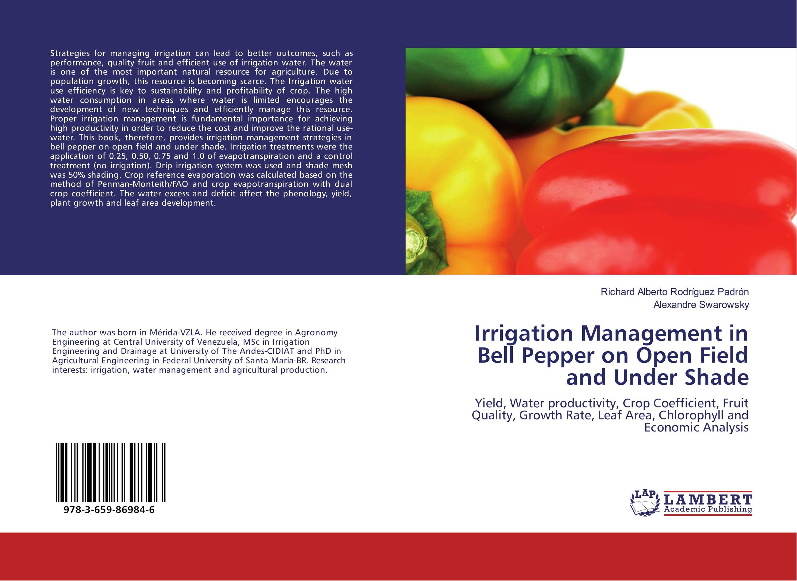 Irrigation Management in Bell Pepper on Open Field and Under Shade new oral irrigator dental floss care implement pressurre water flosser irrigation hygiene teeth cleaning
