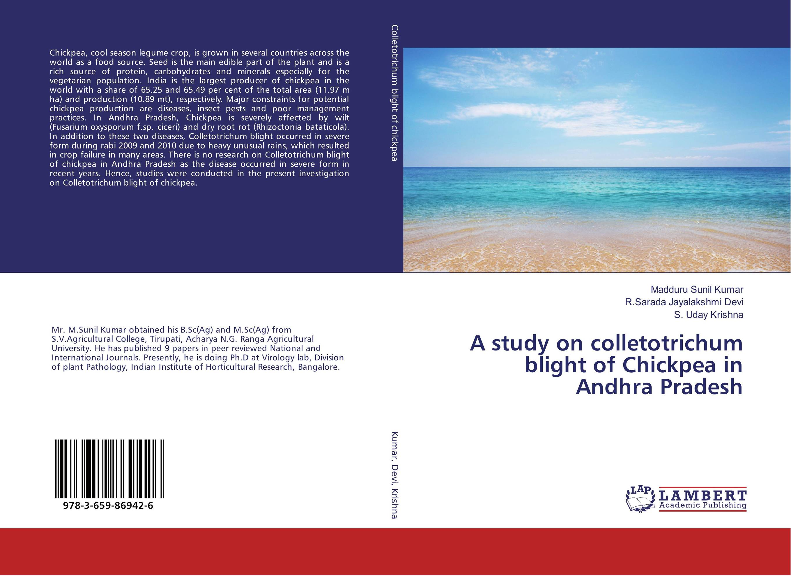A study on colletotrichum blight of Chickpea in Andhra Pradesh