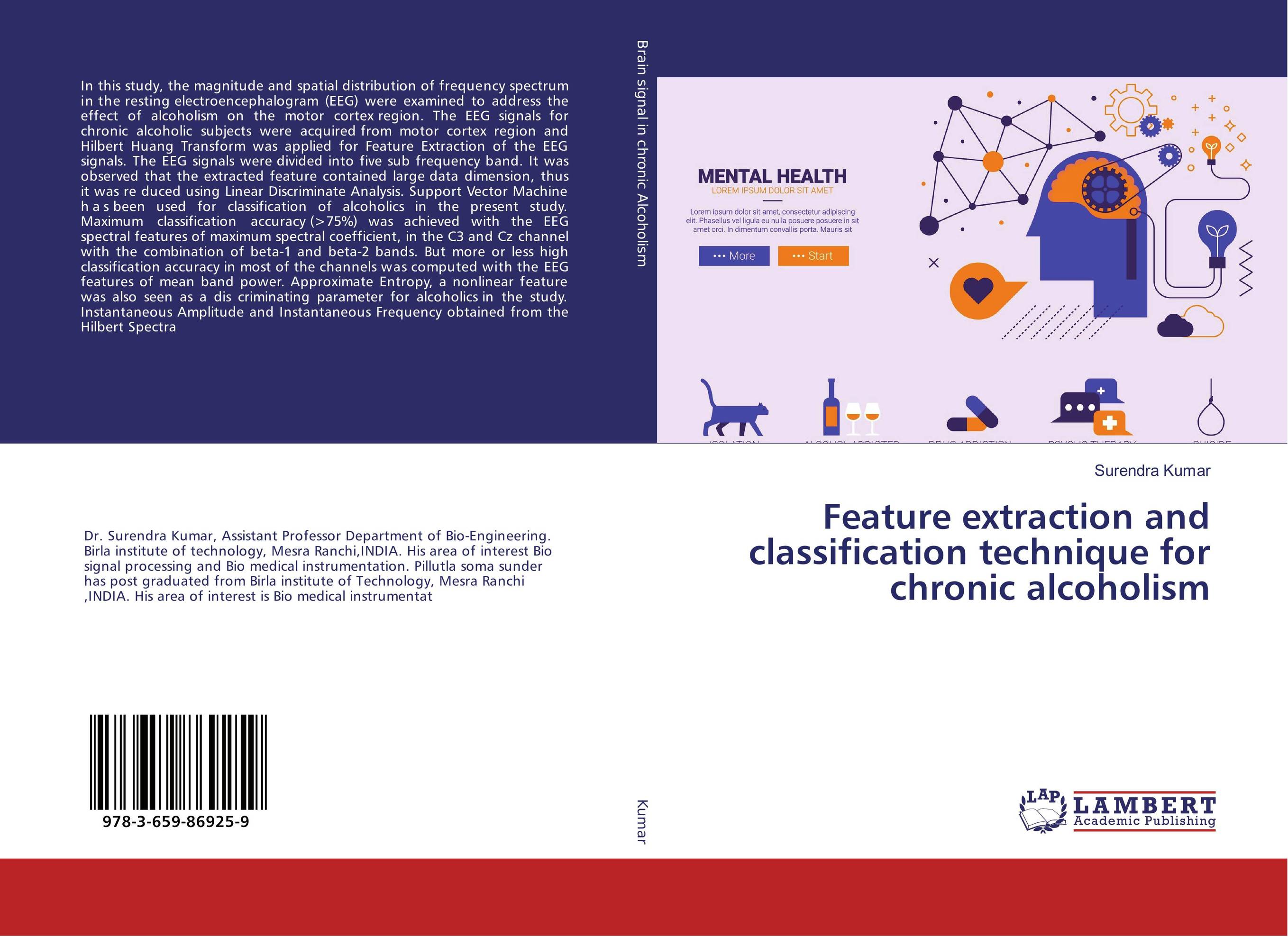 все цены на Feature extraction and classification technique for chronic alcoholism